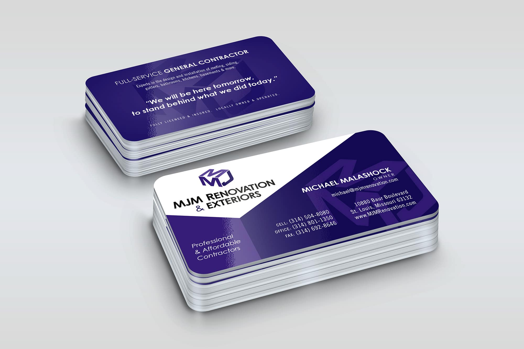 MJM Business Card design
