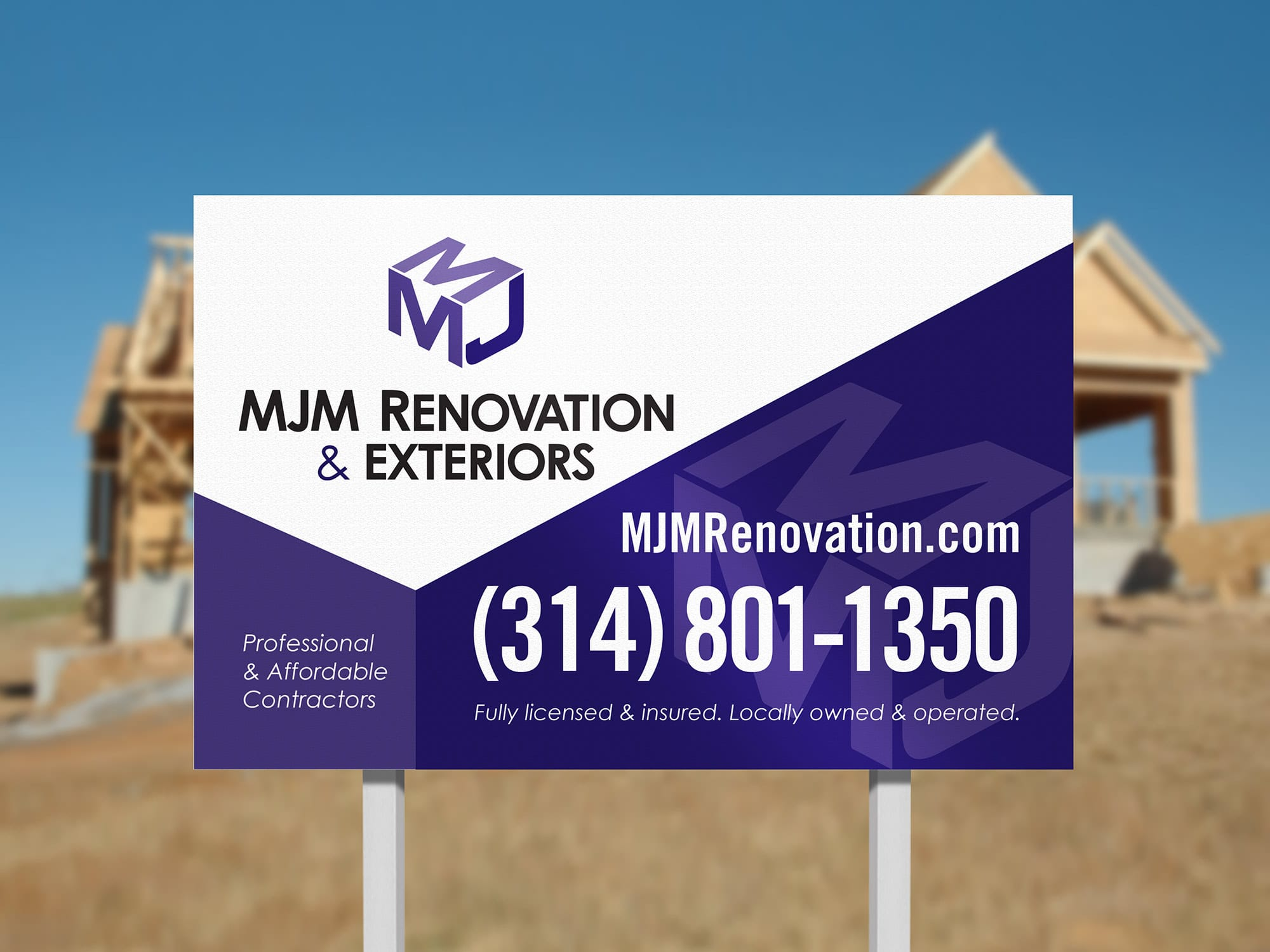 MJM project sign design