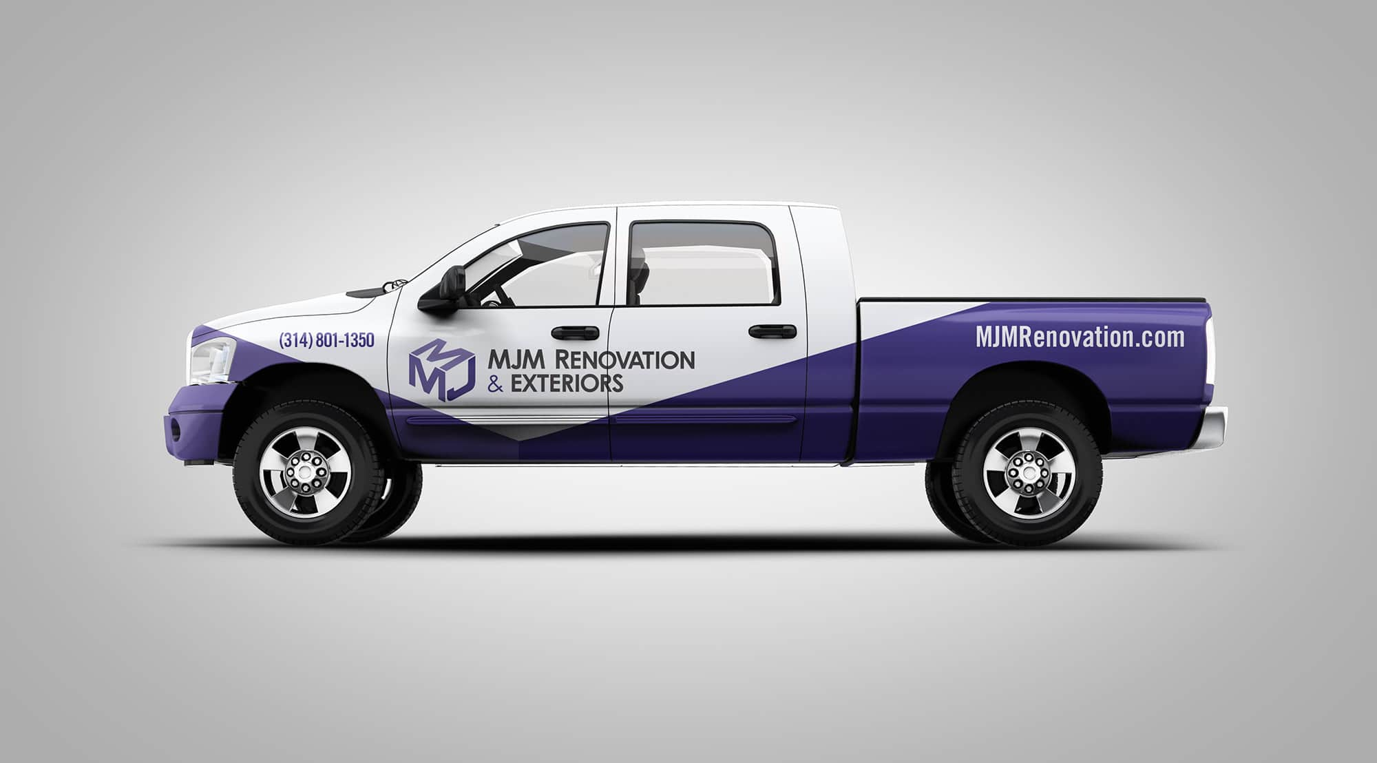 MJM truck vehicle wrap design
