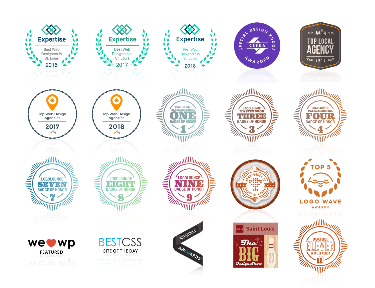 Visual Lure Awards Badges