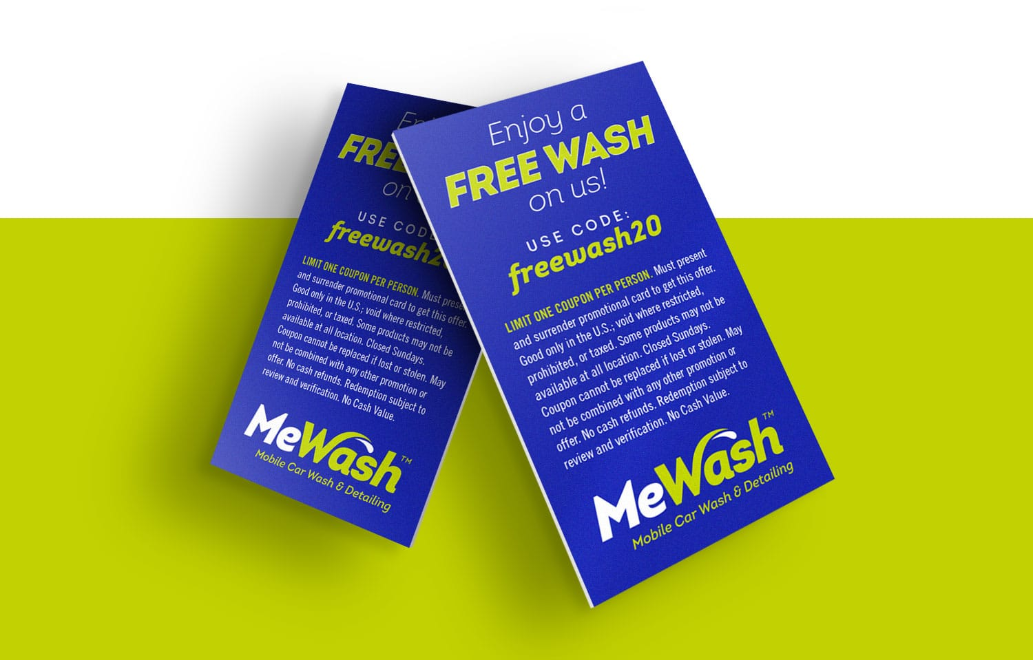 MeWash free wash cards