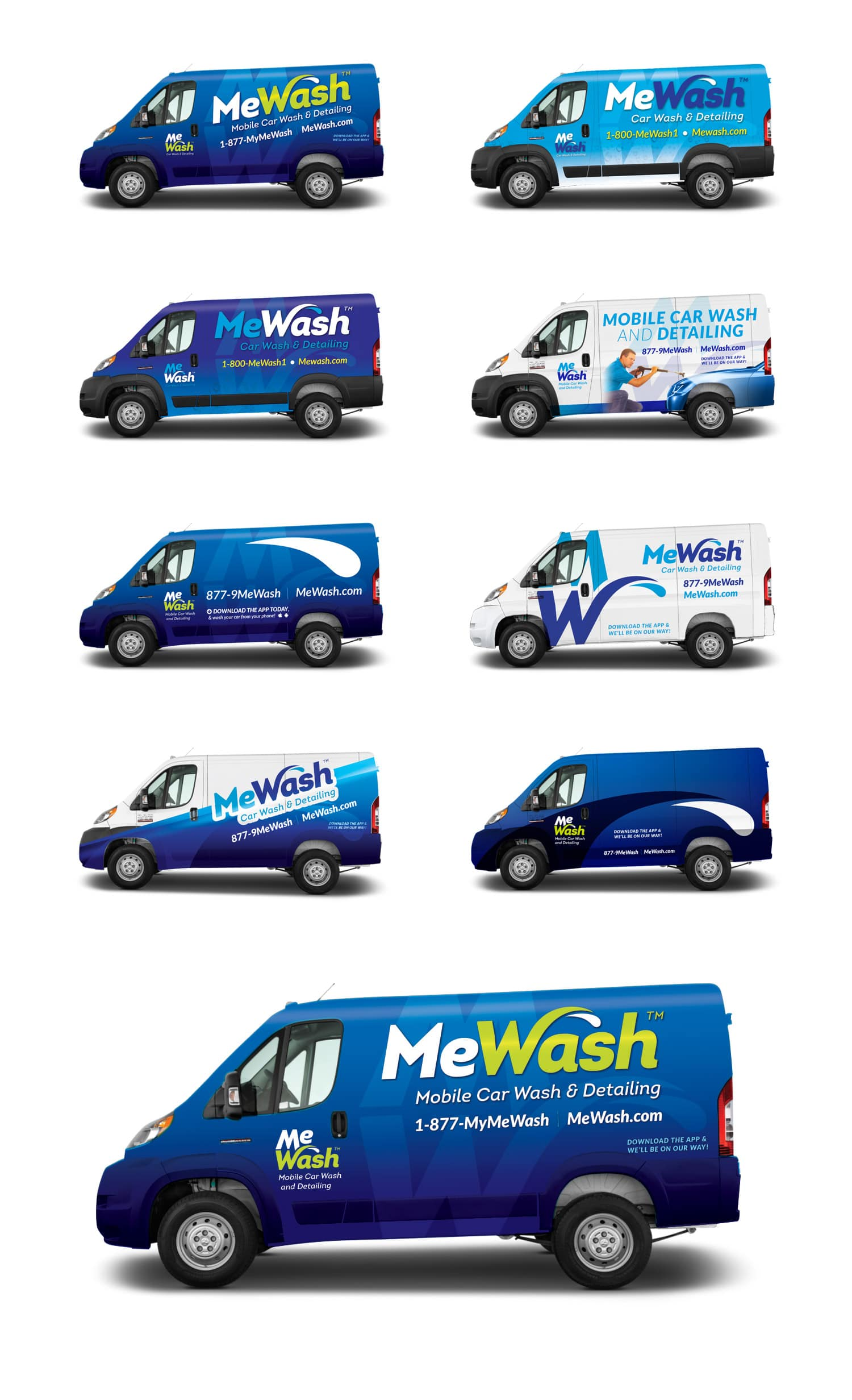 MeWash vehicle wrap design