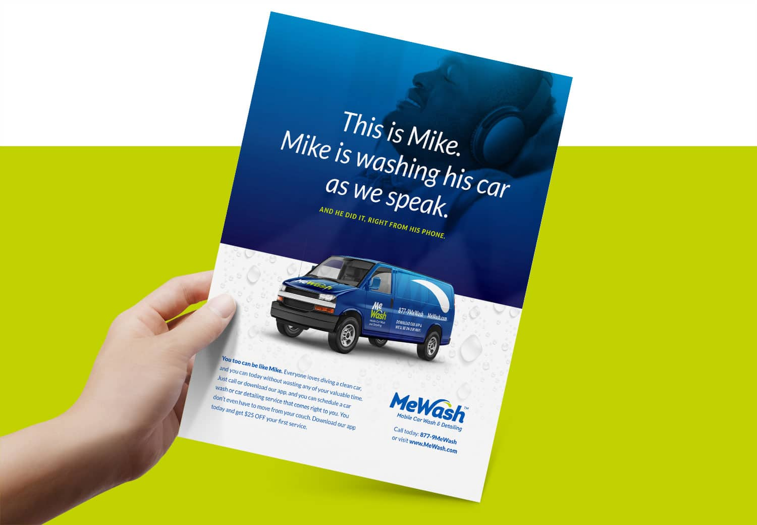 MeWash sample ad design