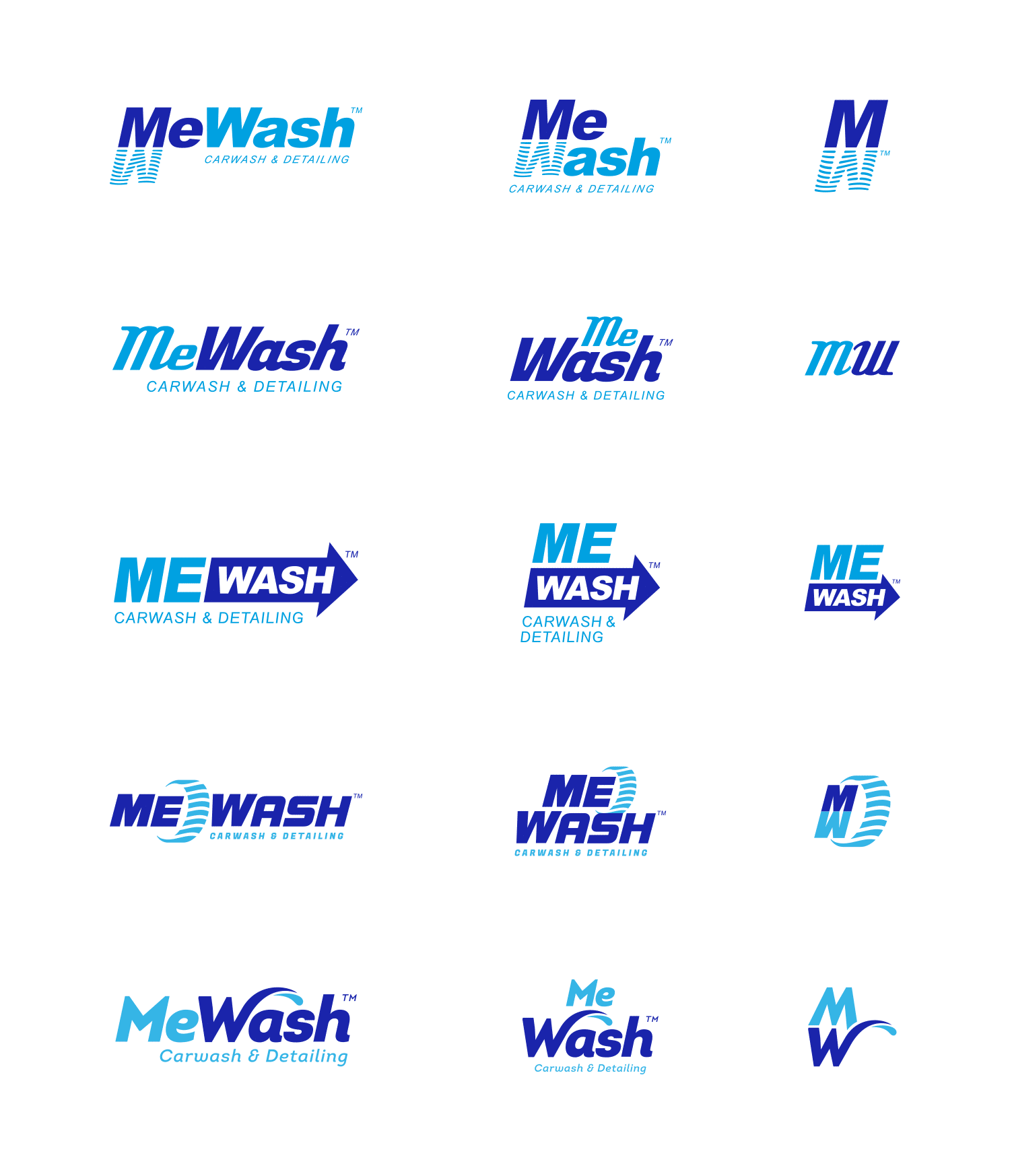 MeWash initial logo options