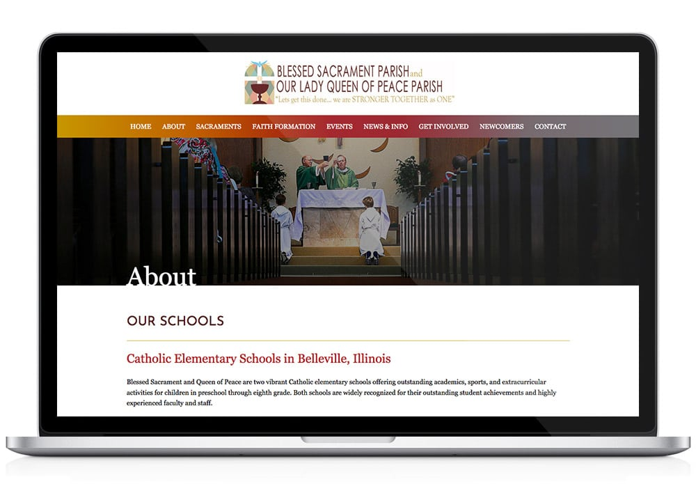 BellevilleCatholic.com web design