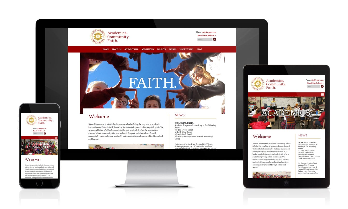 Blessed Sacrament School Website