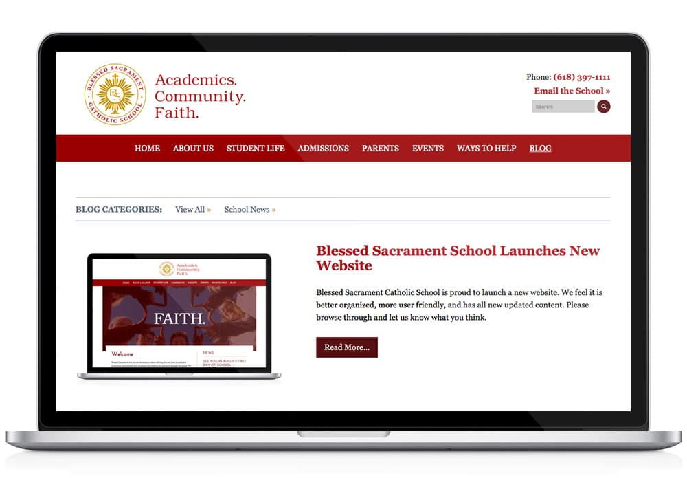 Bless Sacrament School WordPress Blog