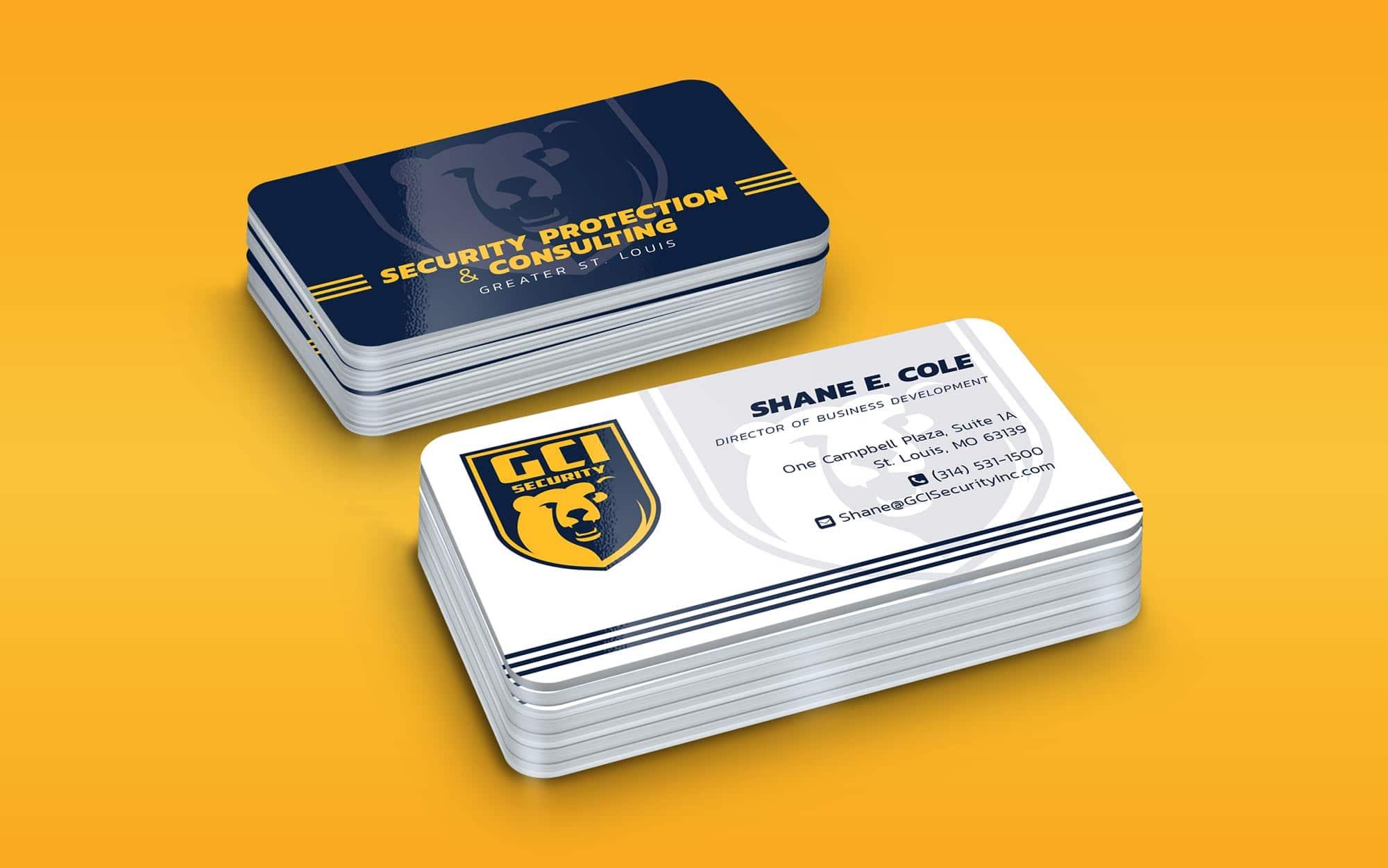 GCI business card design