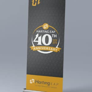 Harting 40th Banner Design