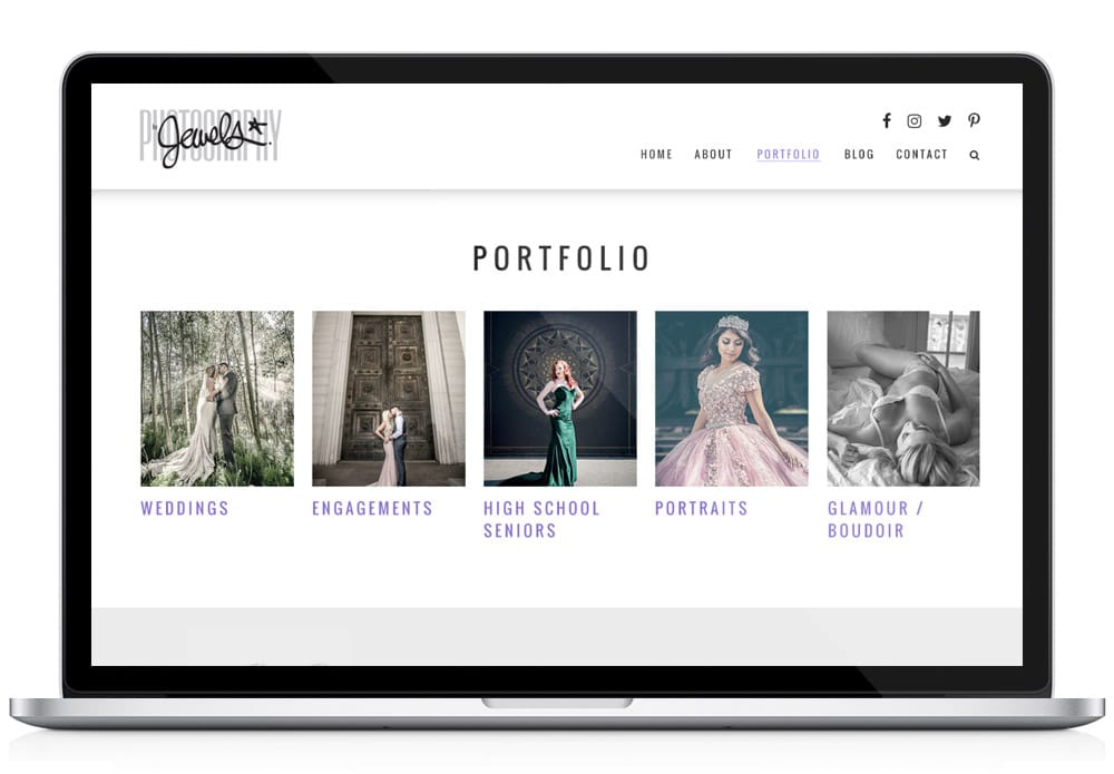 Jewels Portfolio Web Page