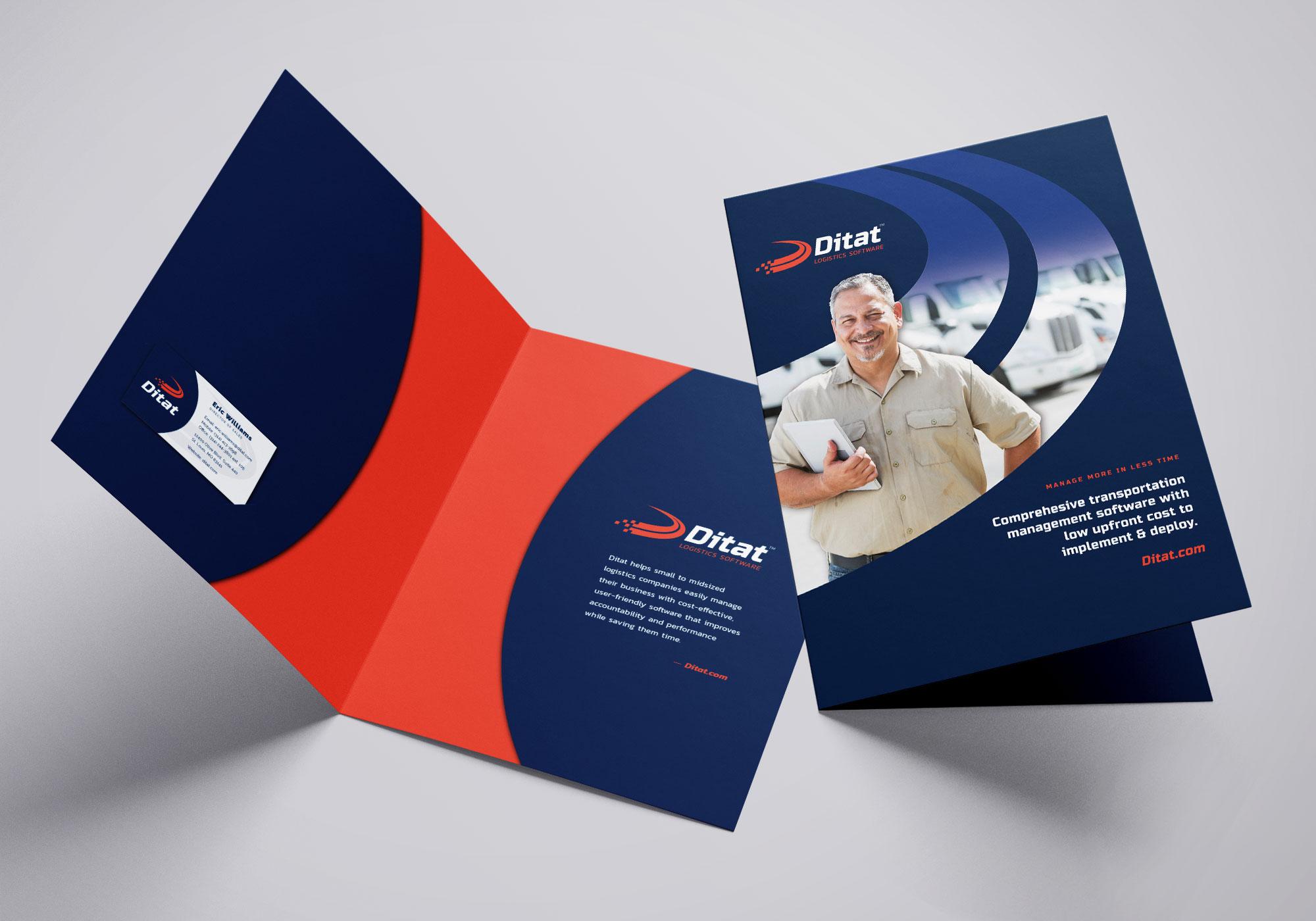 Ditat Folder Design cover & inside