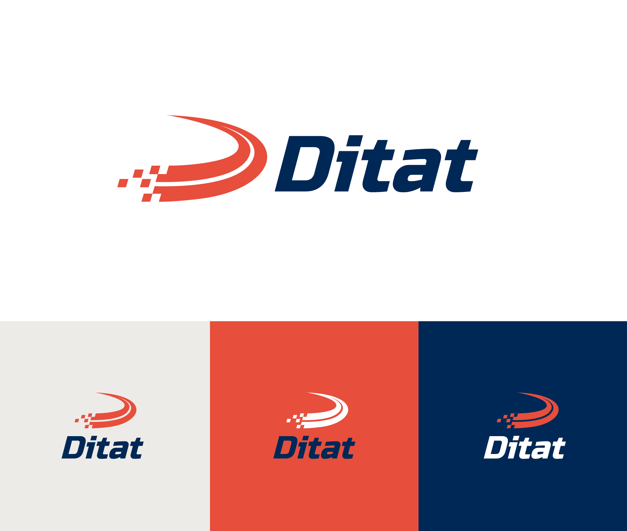 Ditat logo lockup samples