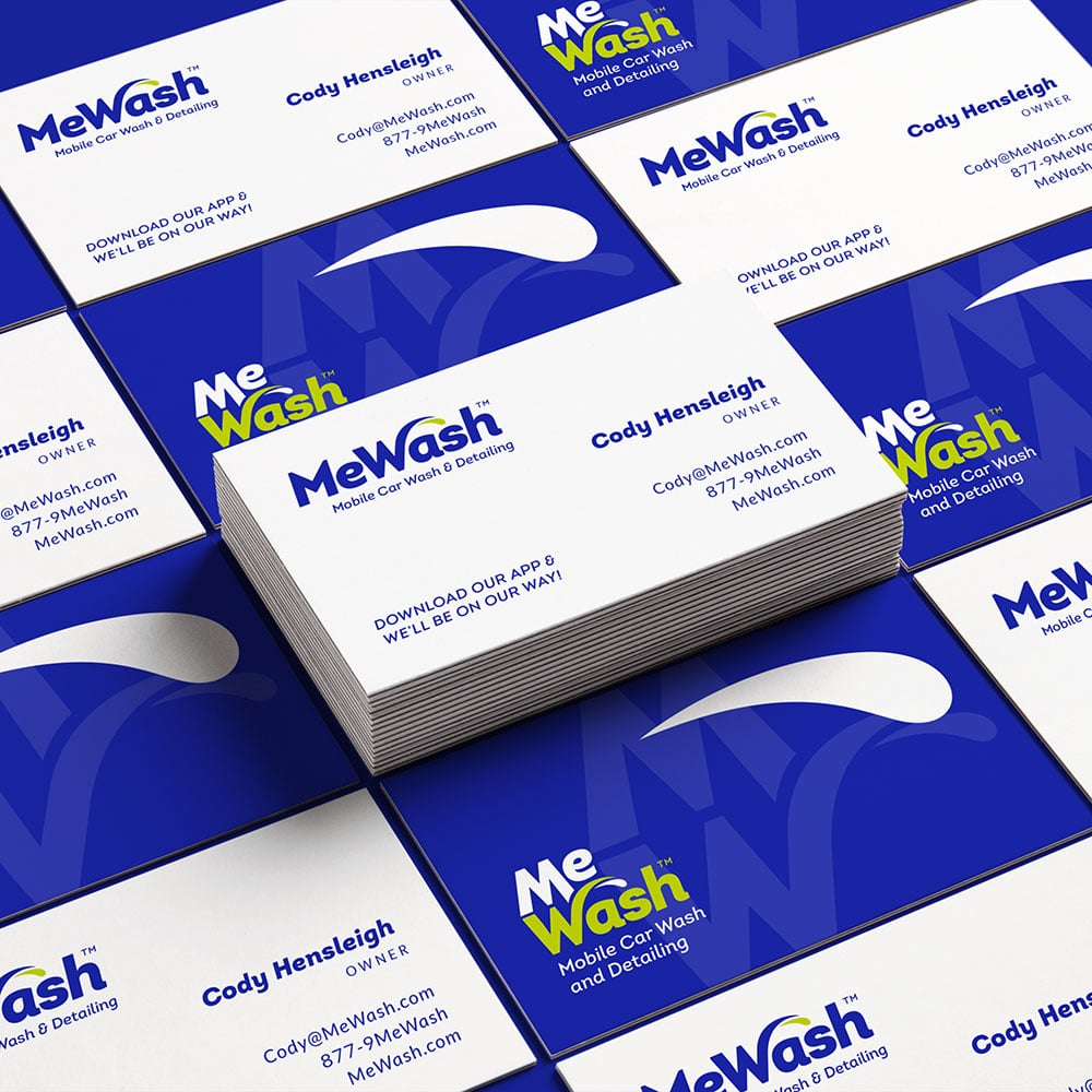 MeWash business card design