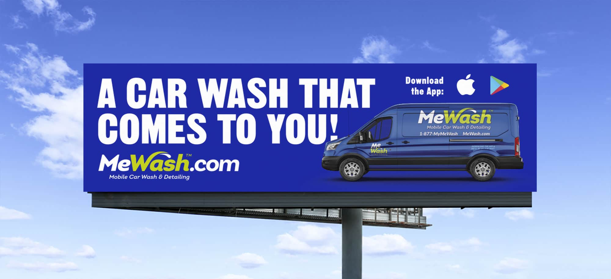 MeWash billboard design