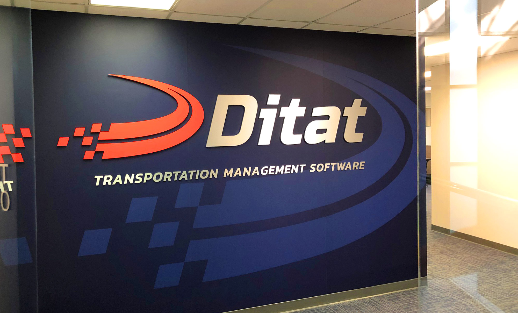 Ditat sign design, office entrance