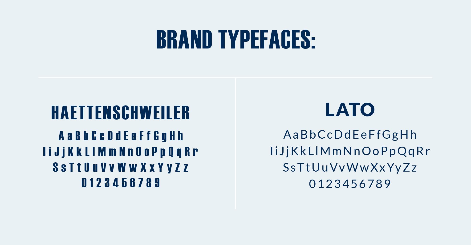 PWP Branding Typefaces