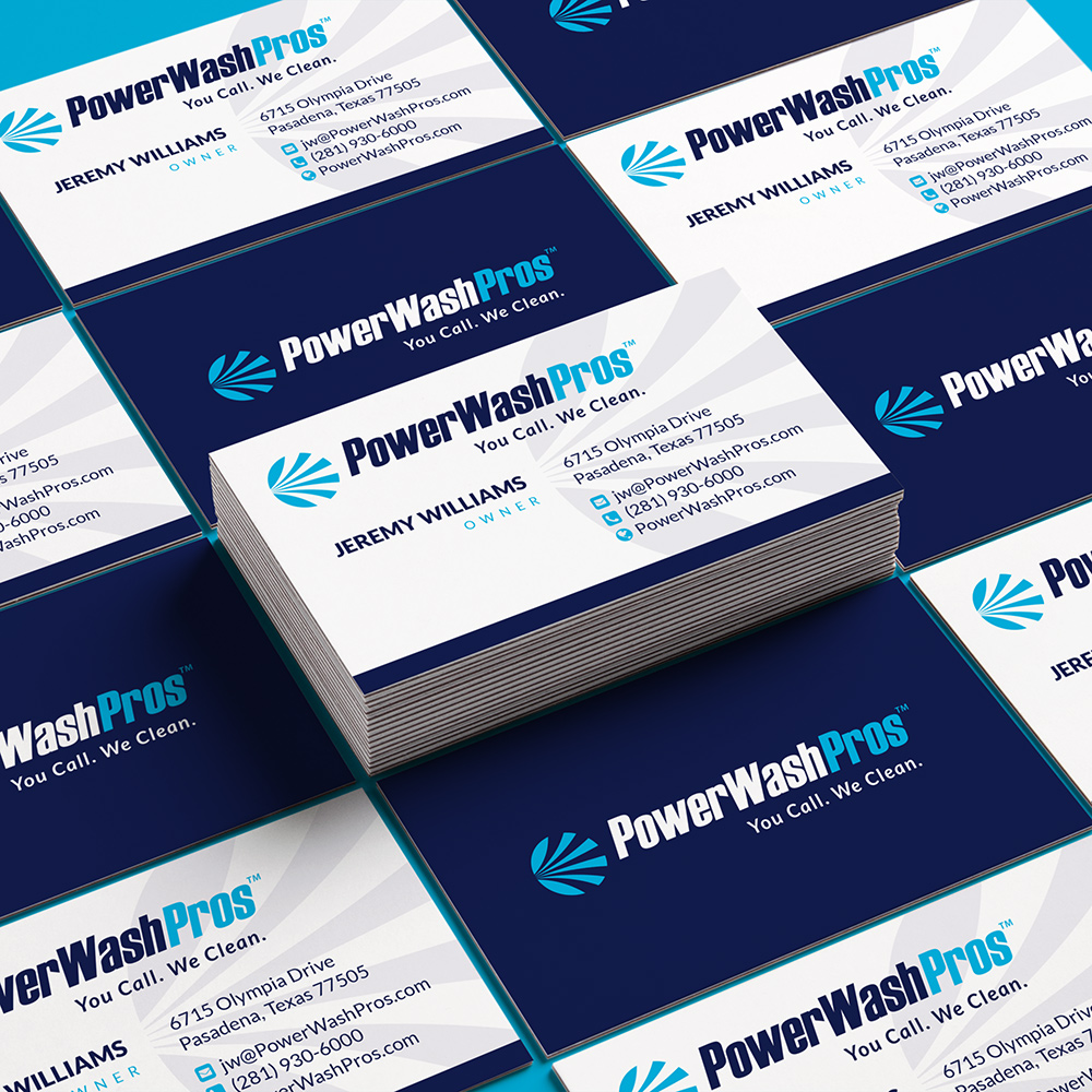 PWP stacked business cards design
