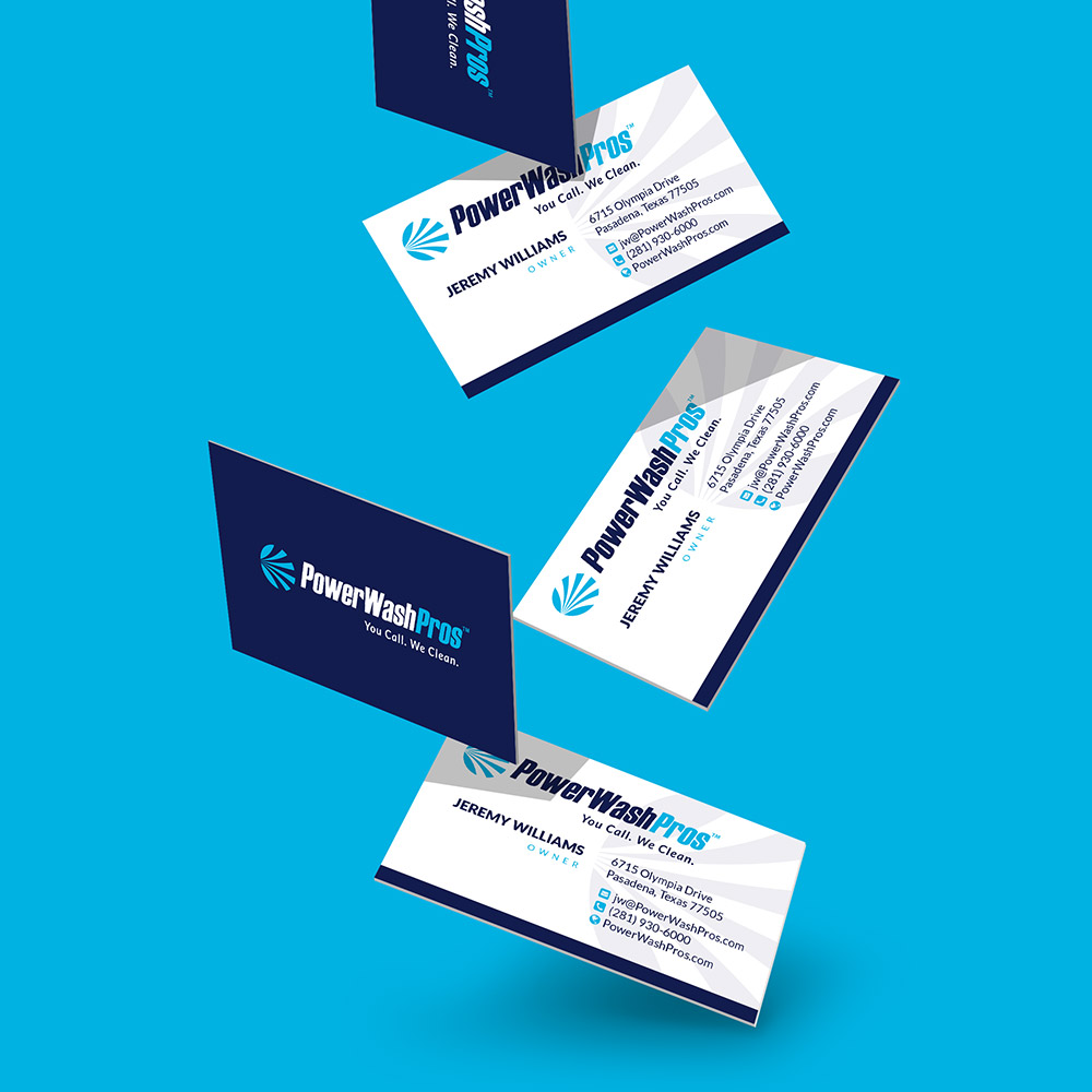 PWP falling business cards design