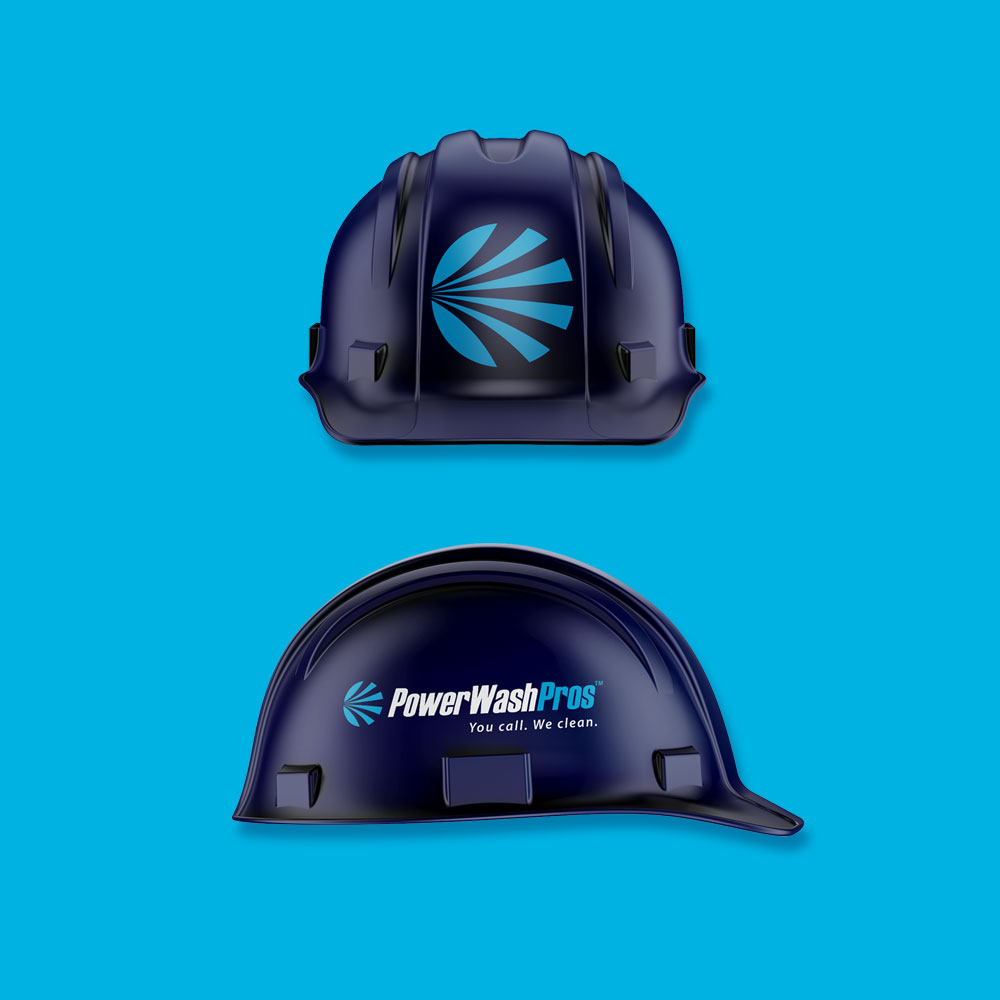 PWP branding hard hat design