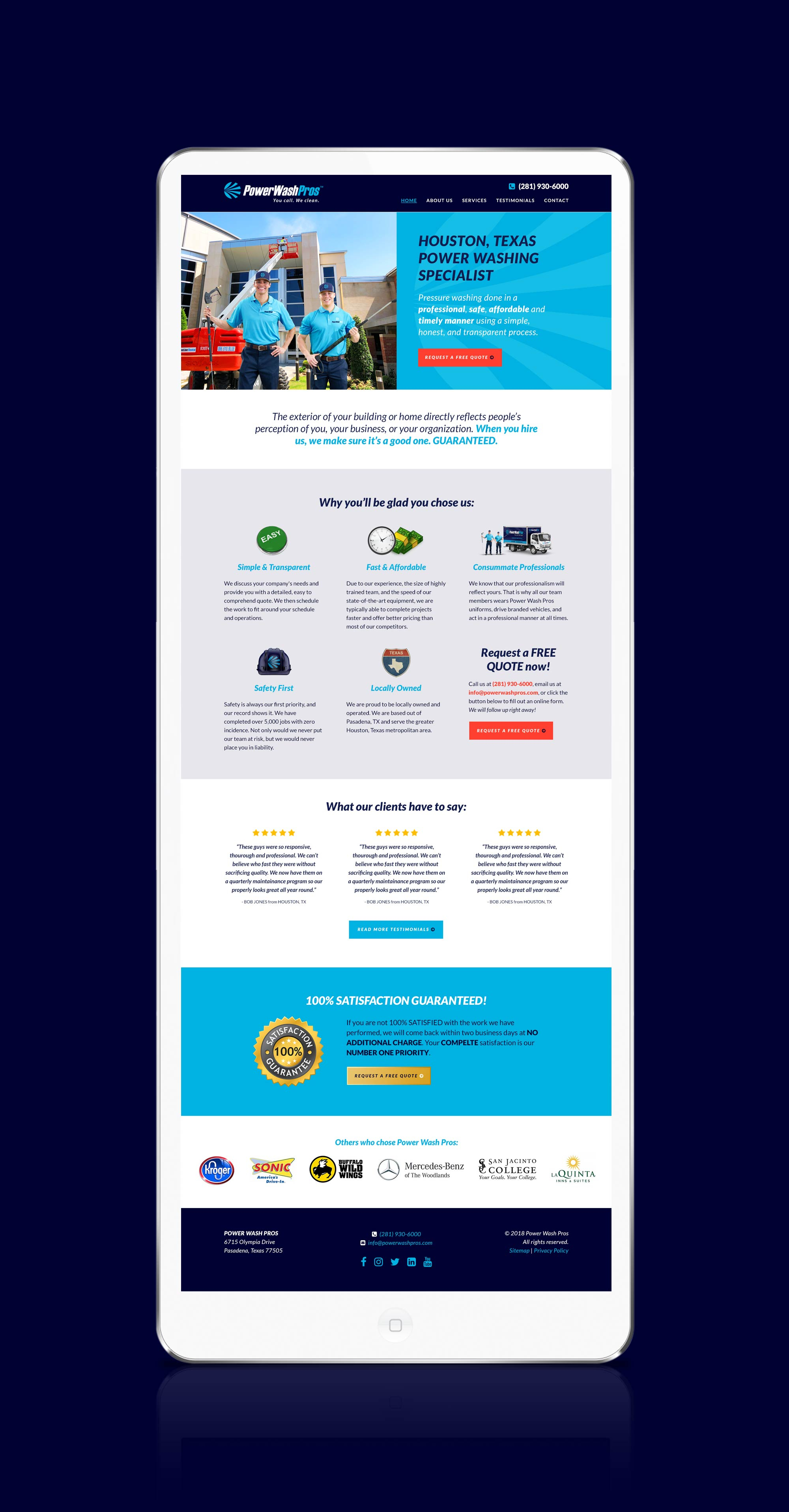 PWP website homepage design
