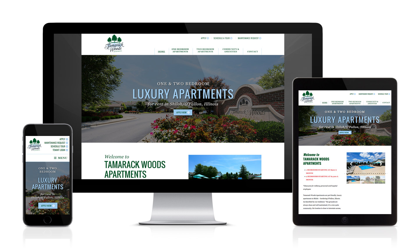 Tamarack WordPress responsive Website