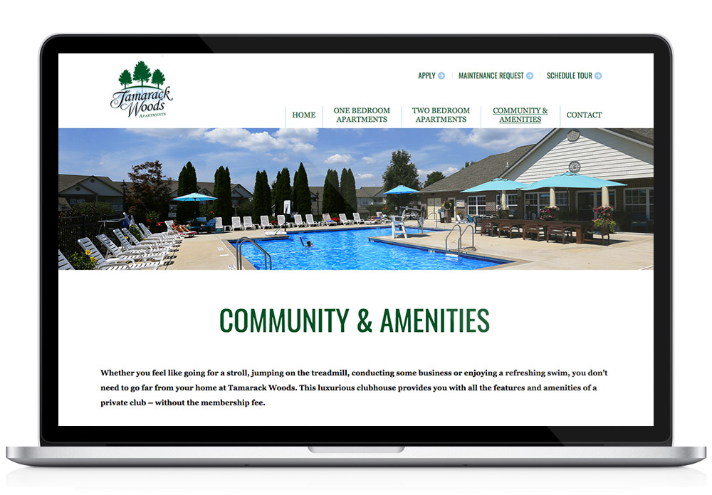 Tamarack website design