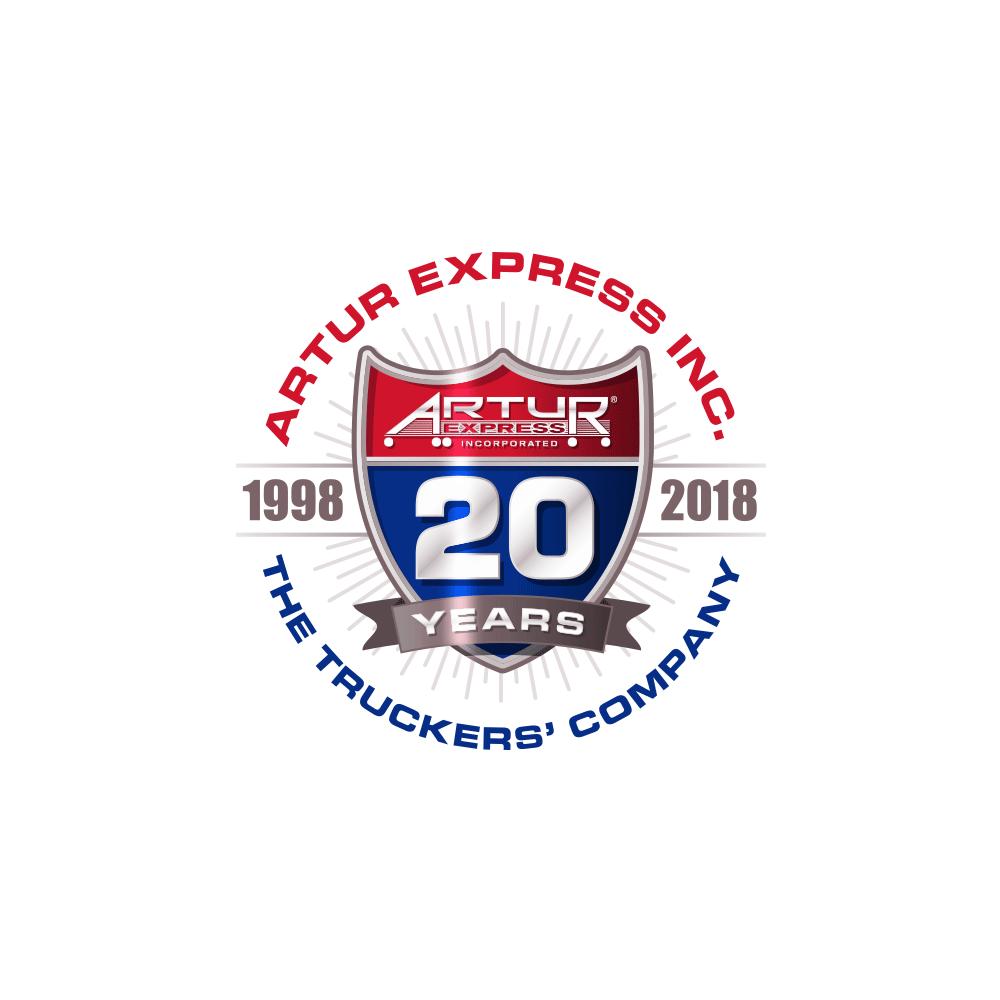 Artur 20 year anniversary logo design