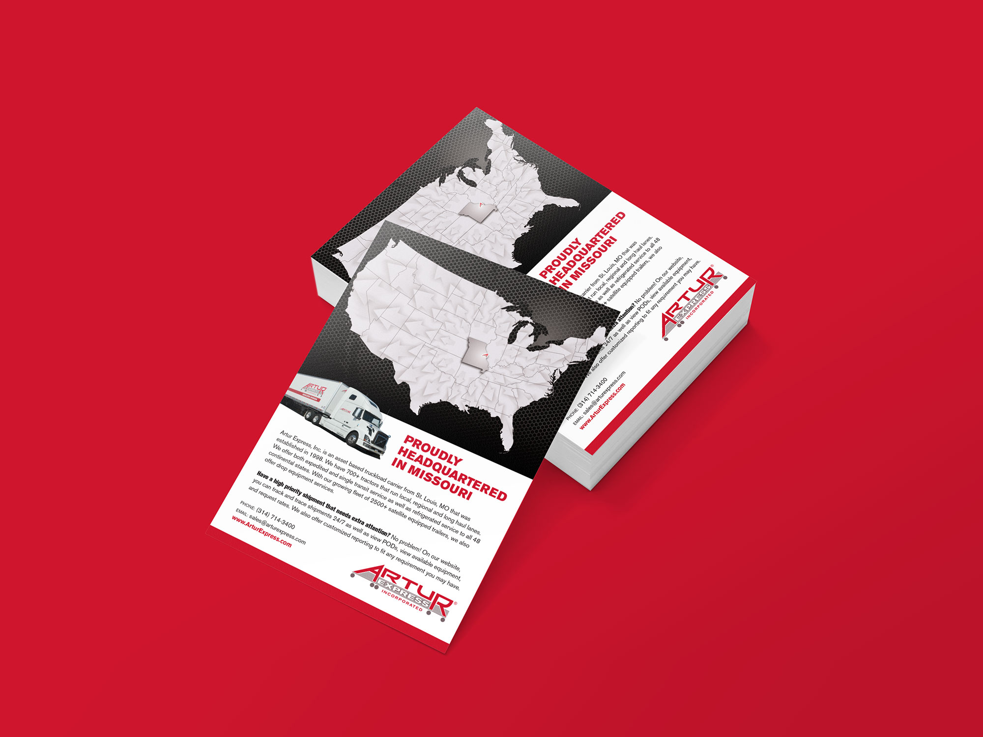 Artur Missouri Trucking Ad Design