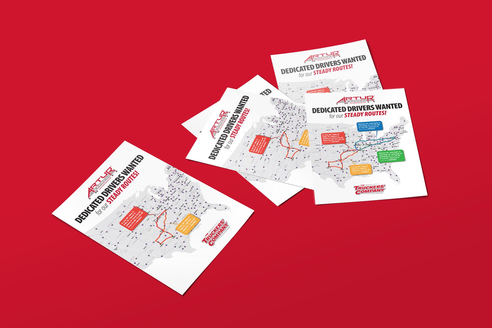 Artur route flyer designs