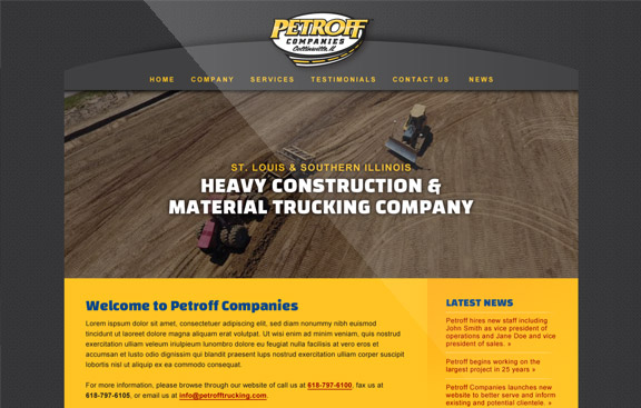 Petroff WordPress website
