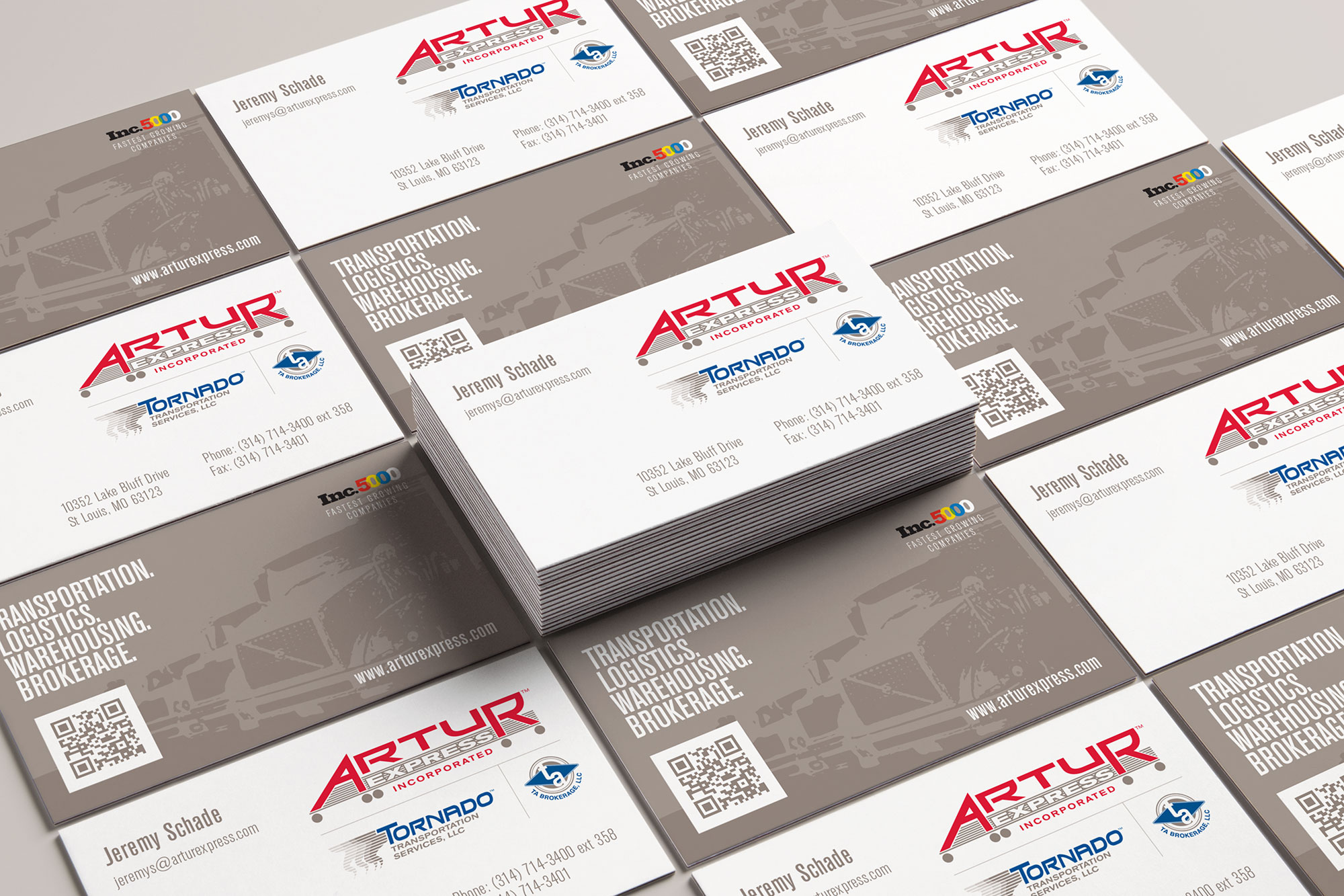 artur business card stacks