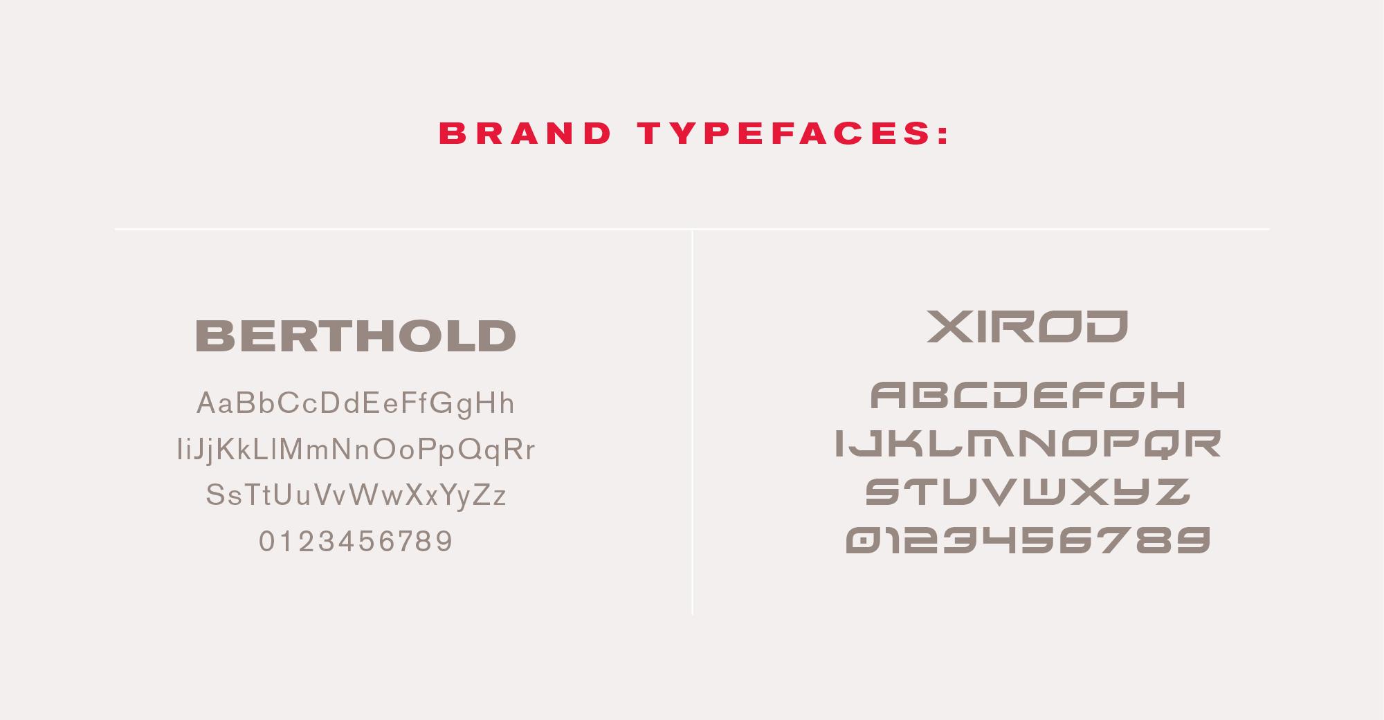 Artur brand typefaces
