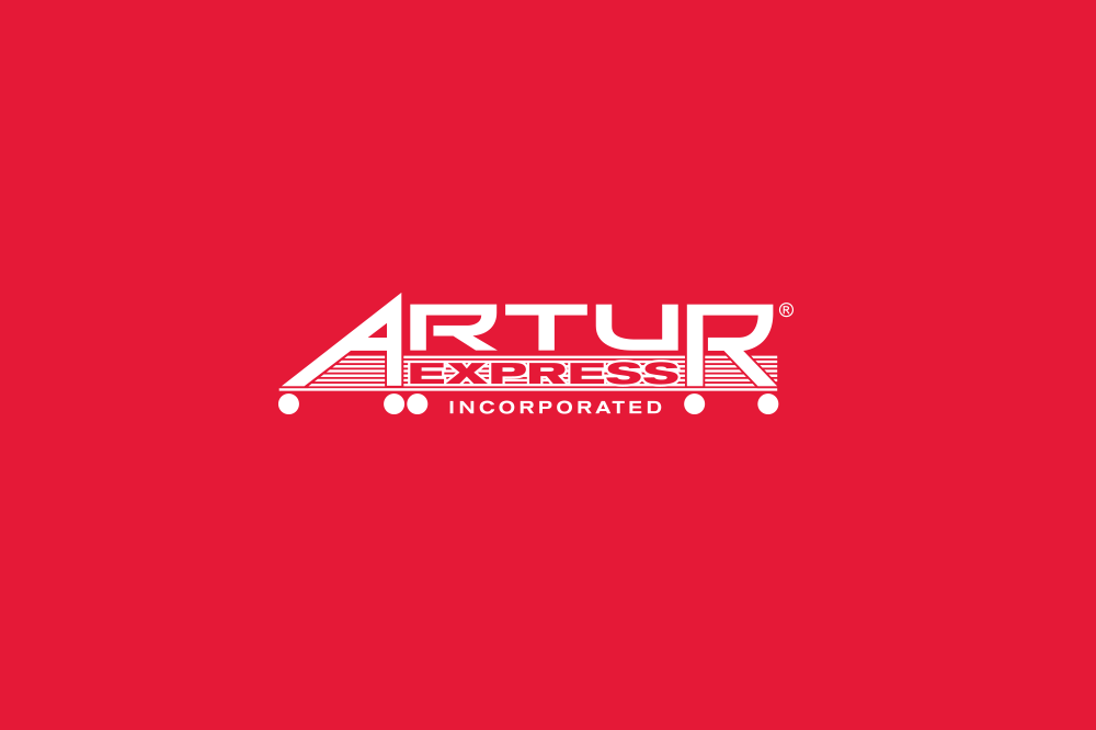 Artur logo on red background