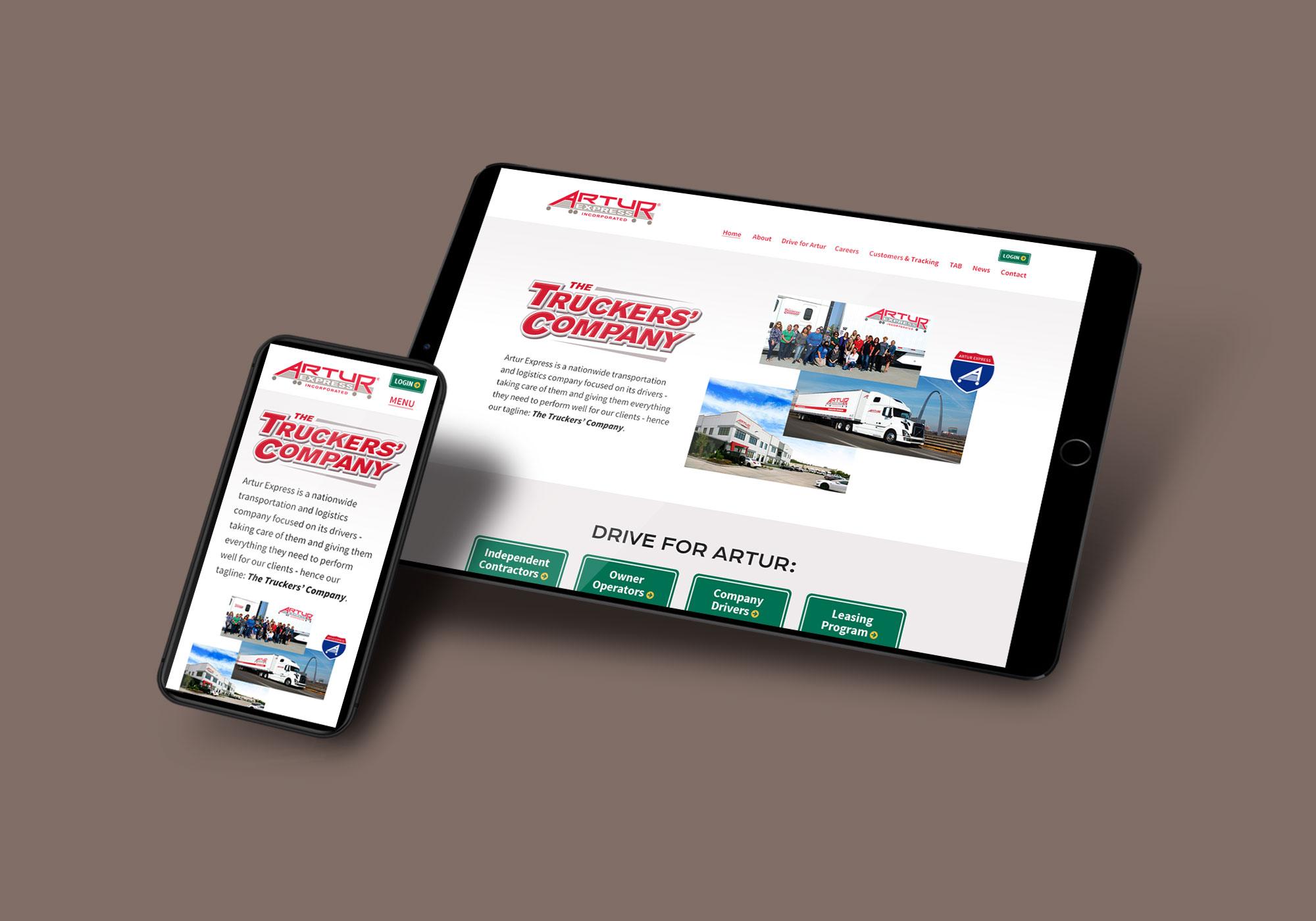 Artur website design