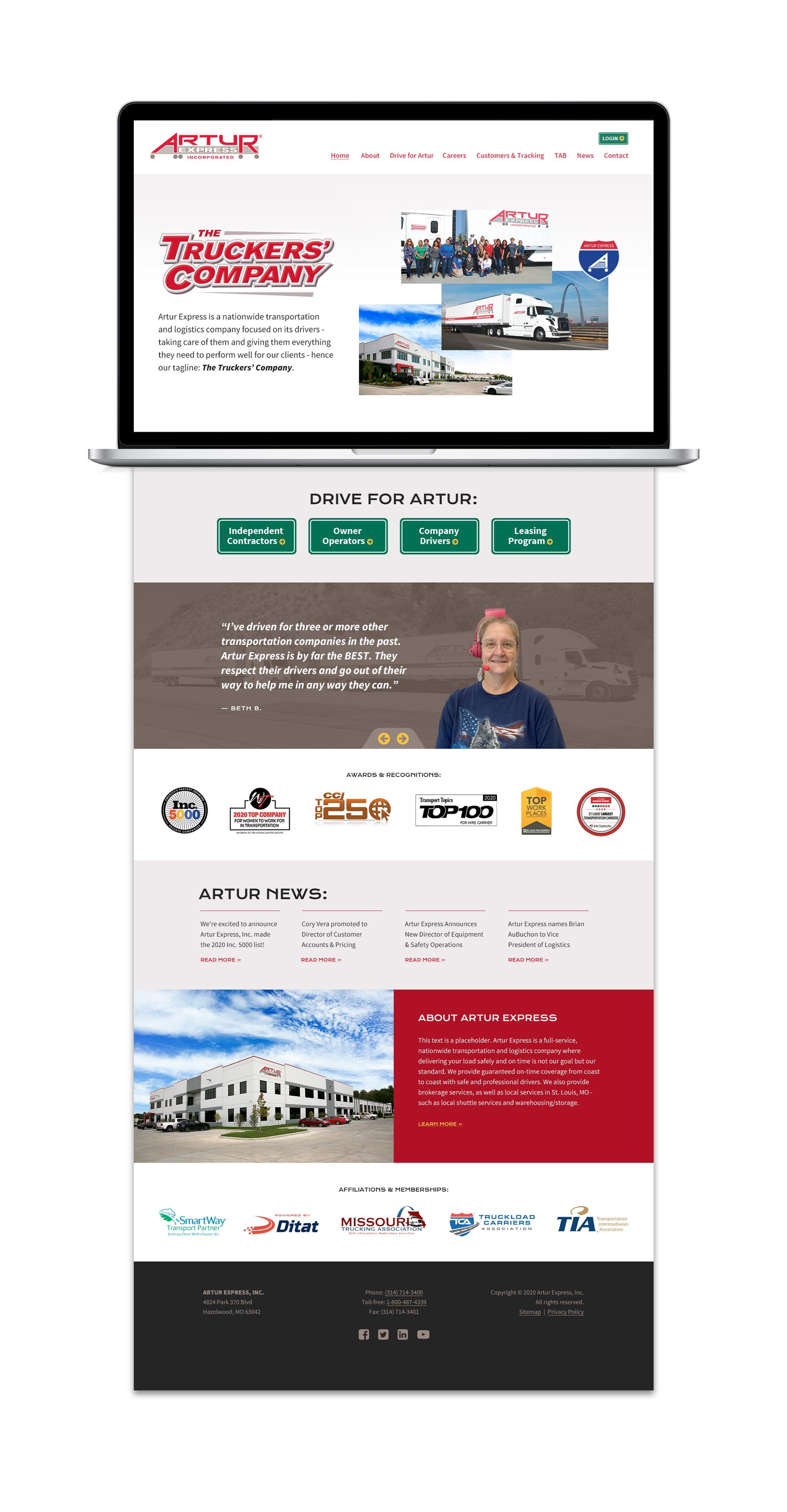 Artur custom wordpress web design