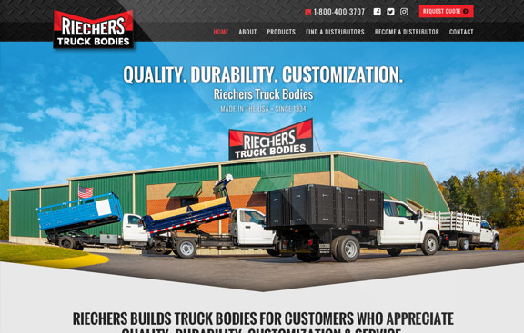 Riechers Website Design