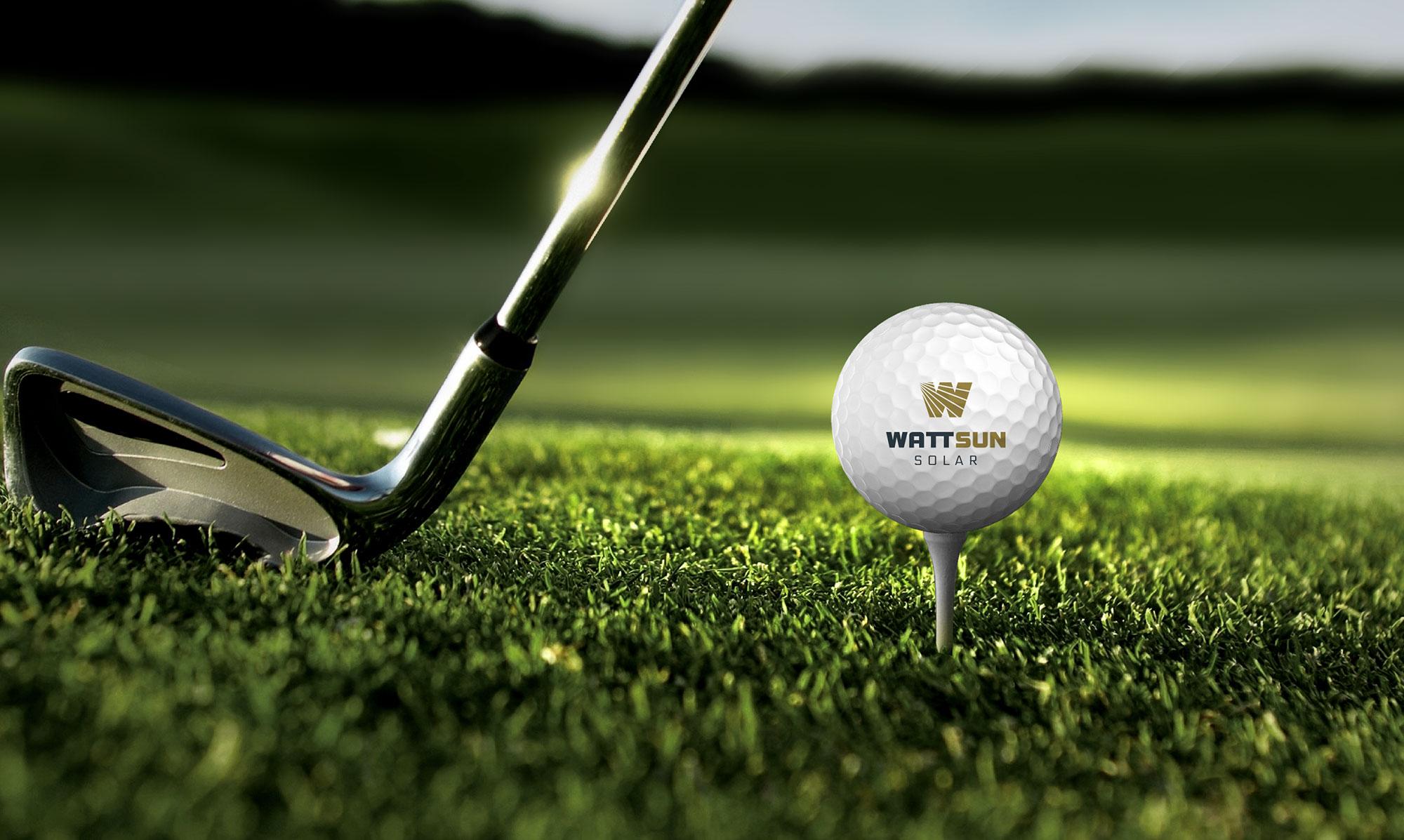 WattSun Brand golfball