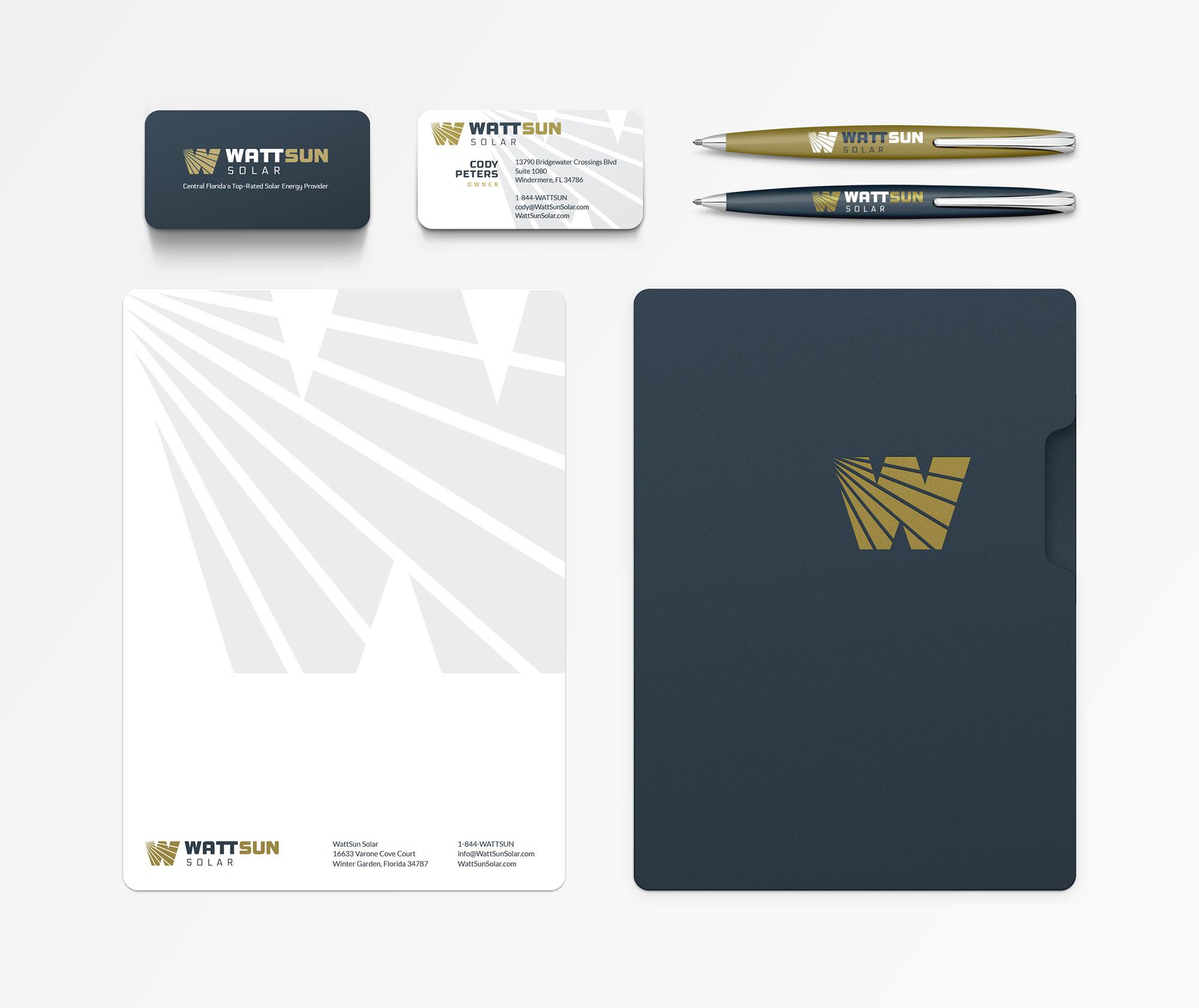 WattSun identity design