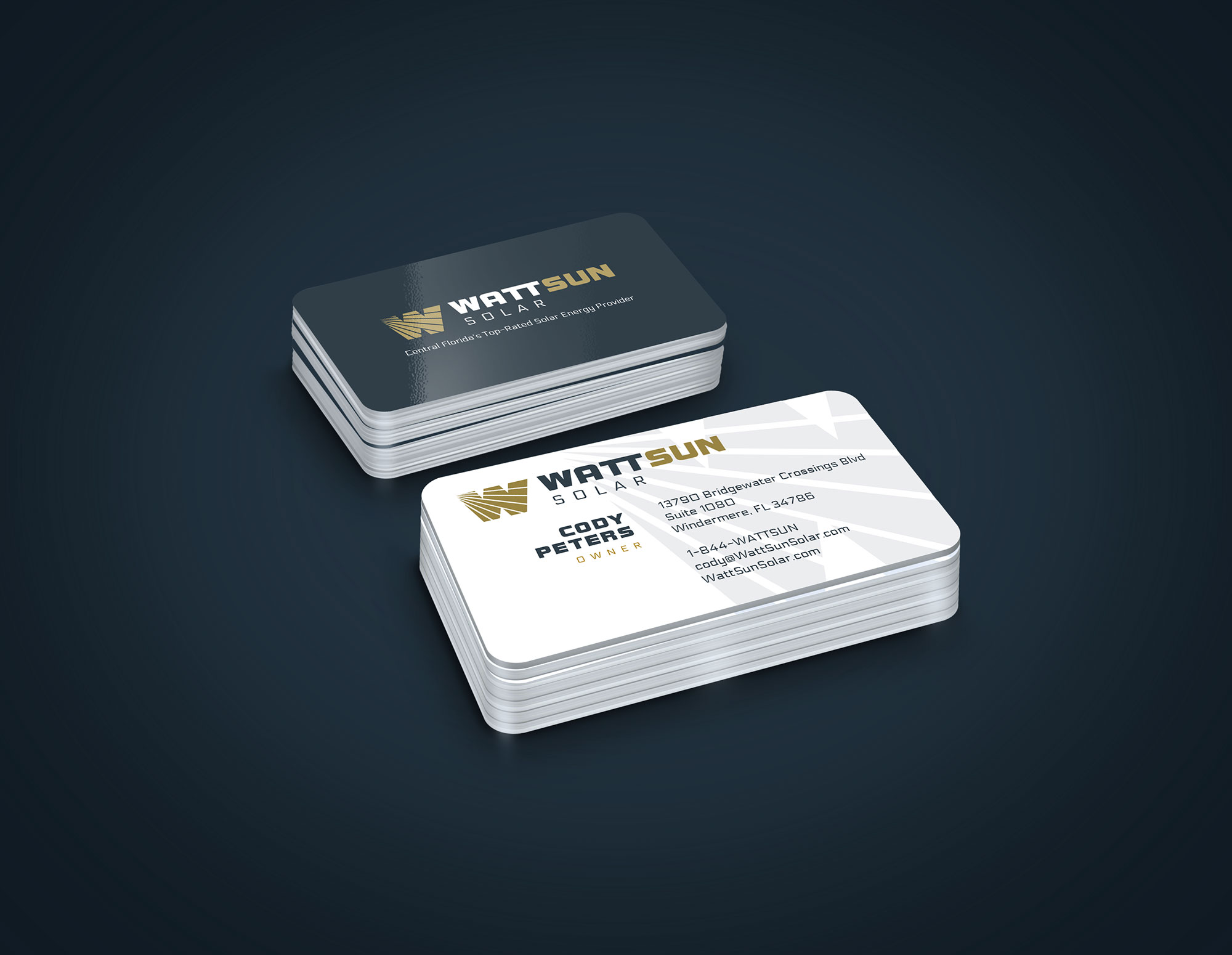 wattsun business card design