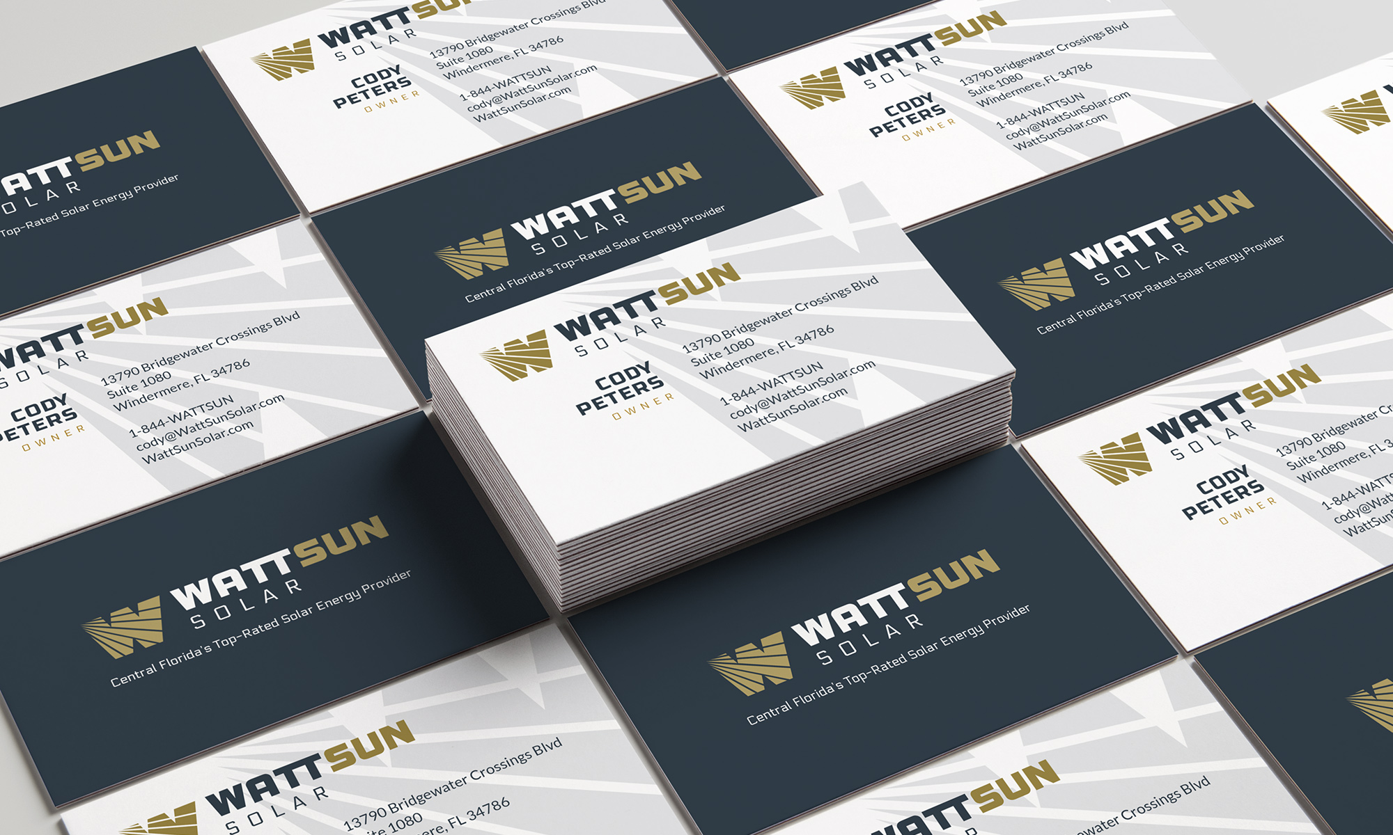 wattsun business card designs