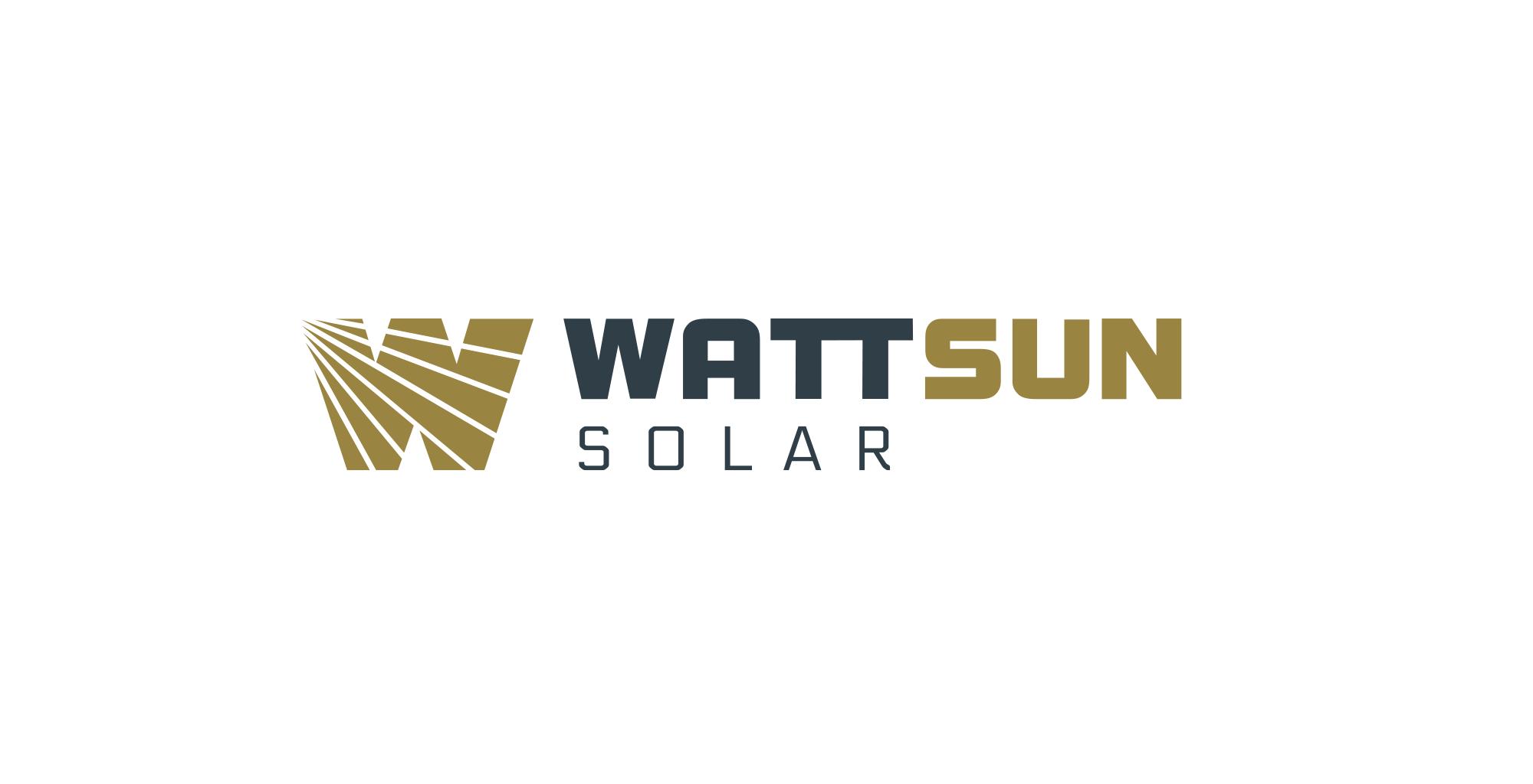 WattSun Logo Design