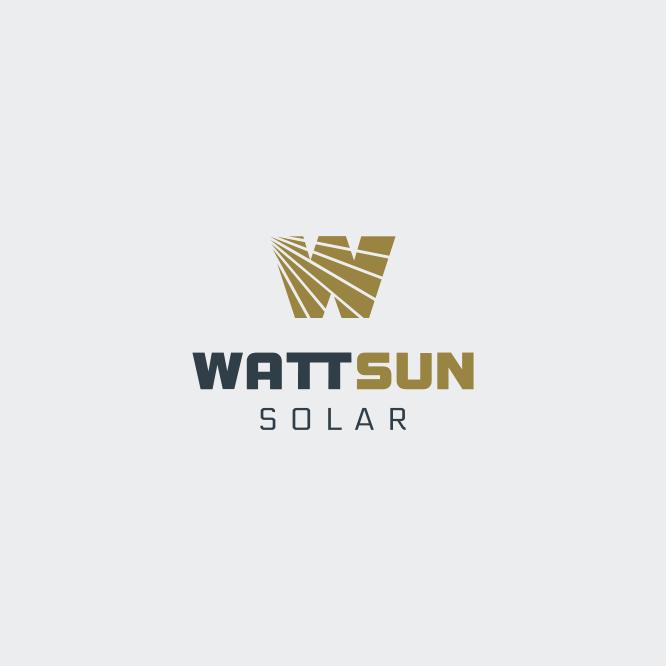 WattSun Logo Design 2