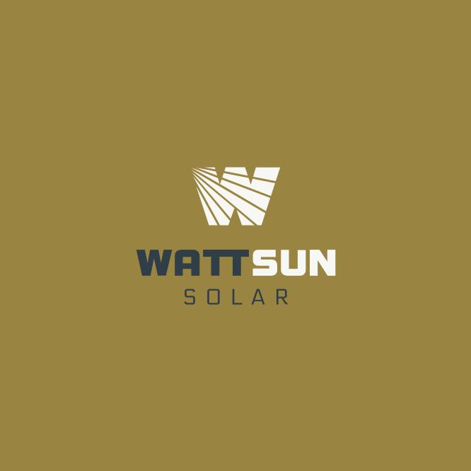 WattSun Logo Design 3