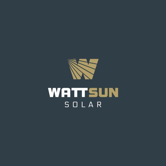 WattSun Logo Design 4