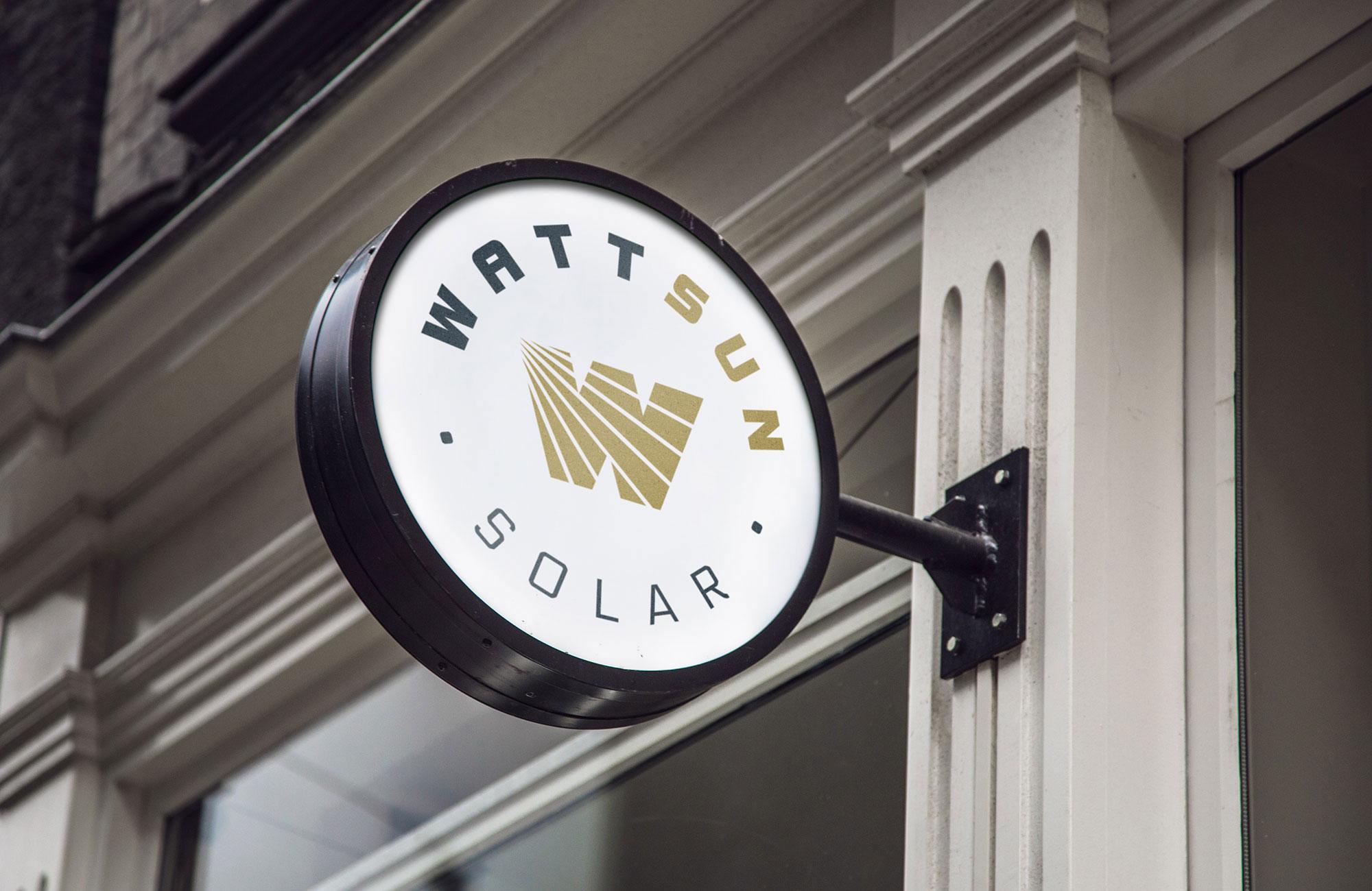 WattSun Brand sign design