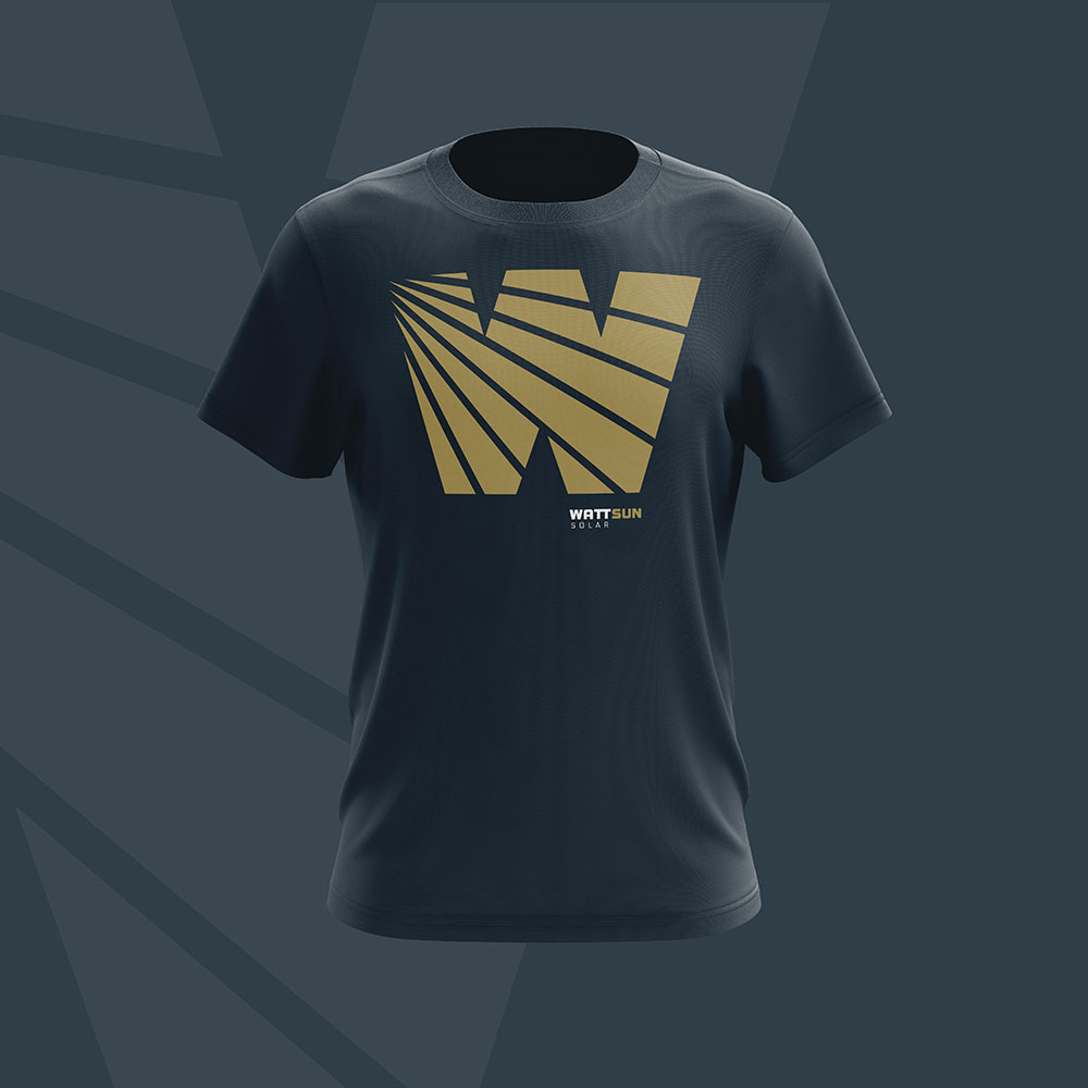WattSun brand shirt design