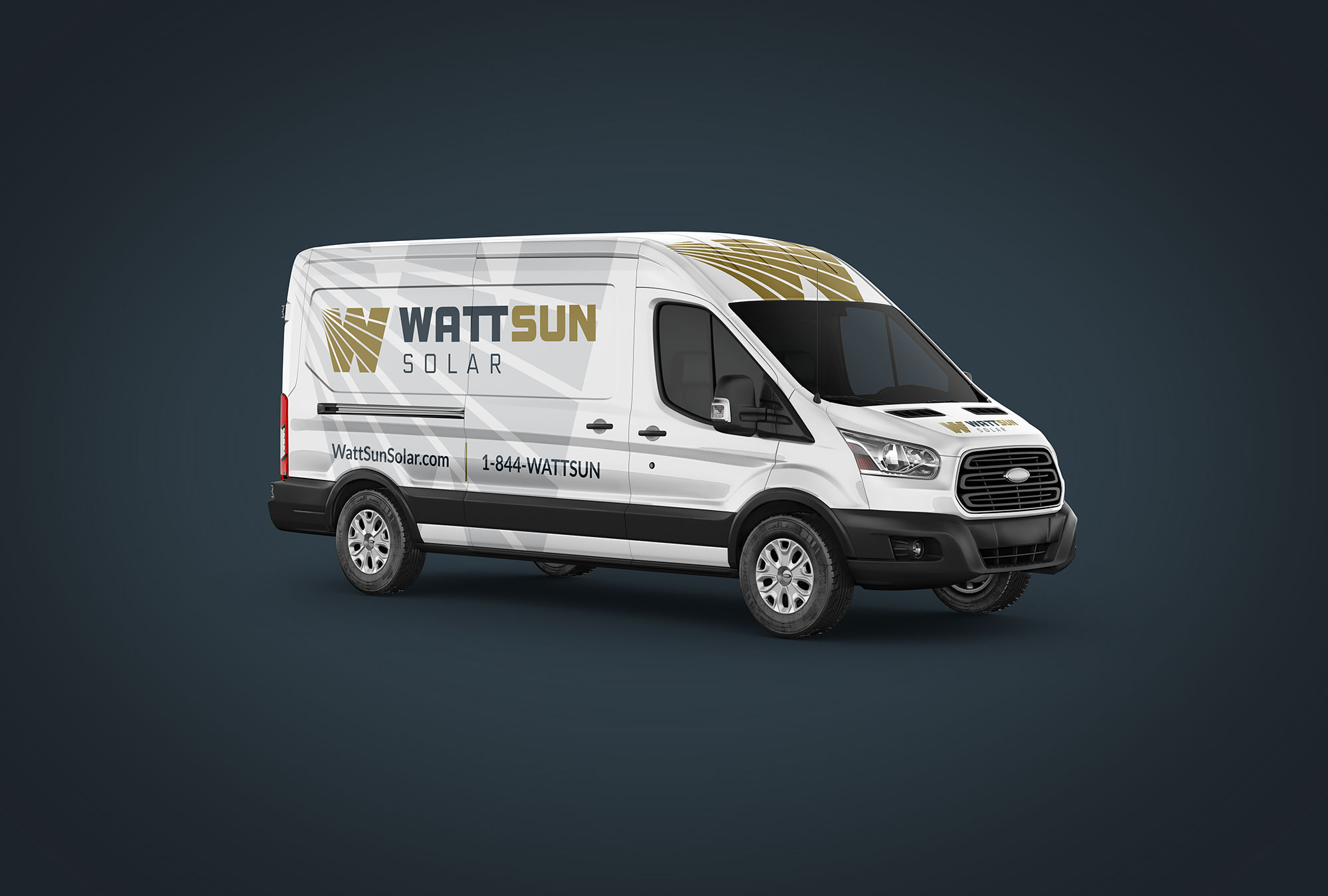 WattSun brand van wrap