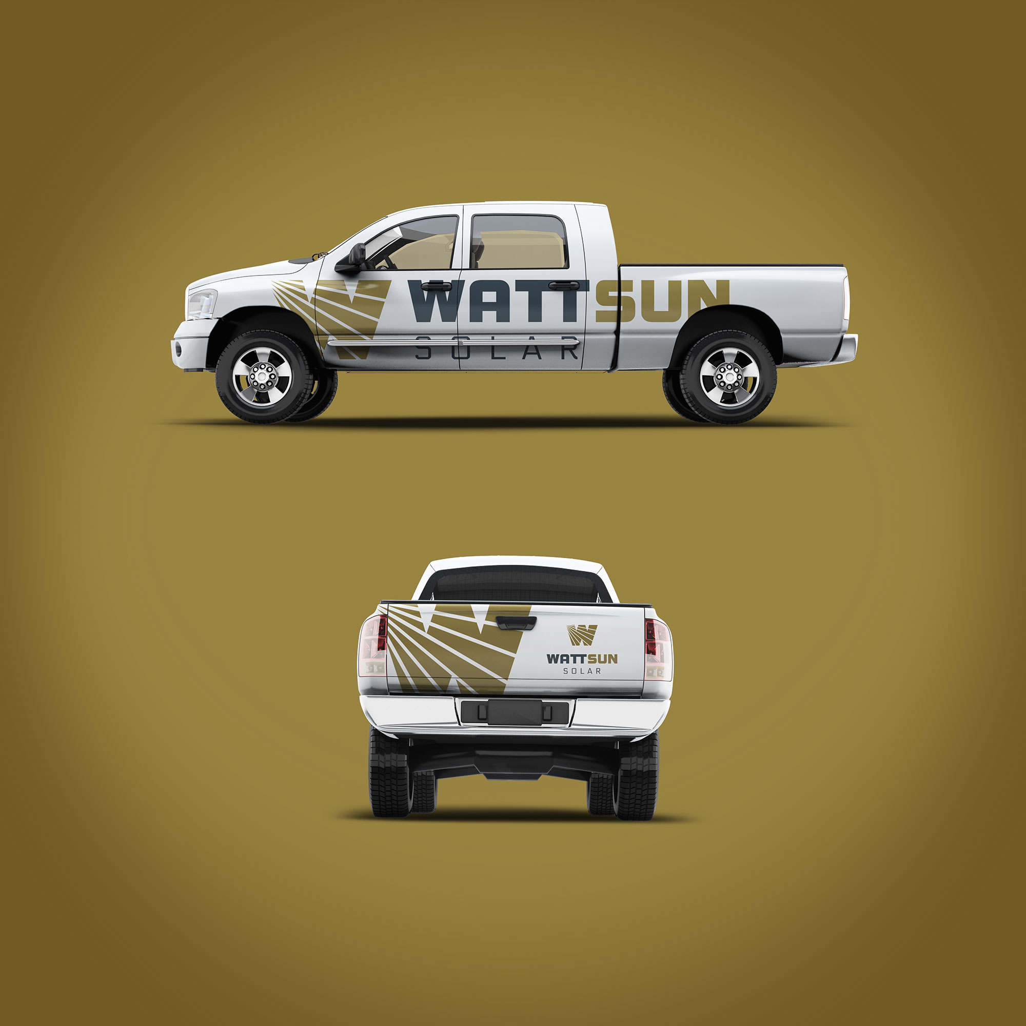 WattSun vehicle wrap design