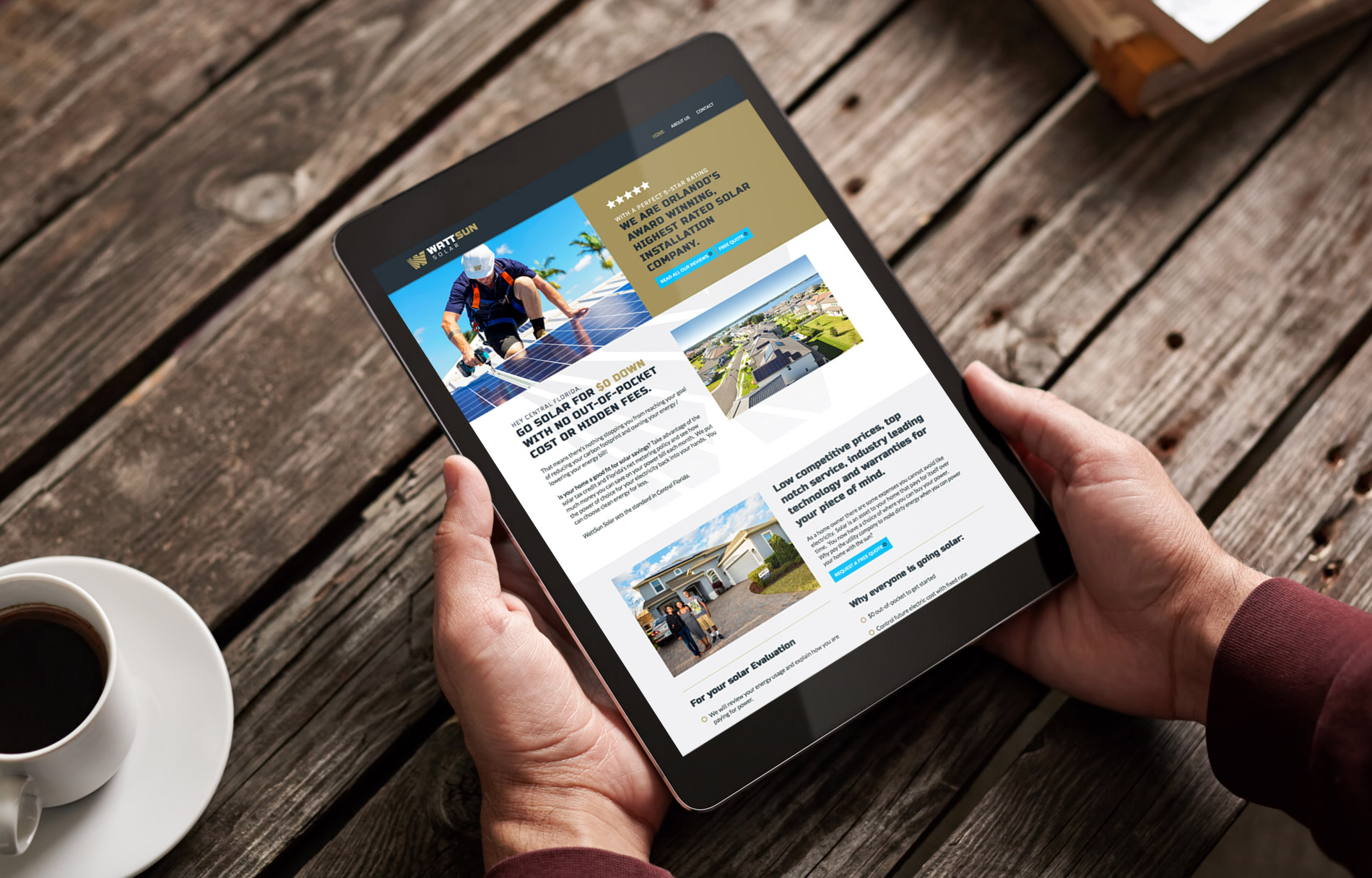 WattSun responsive web design