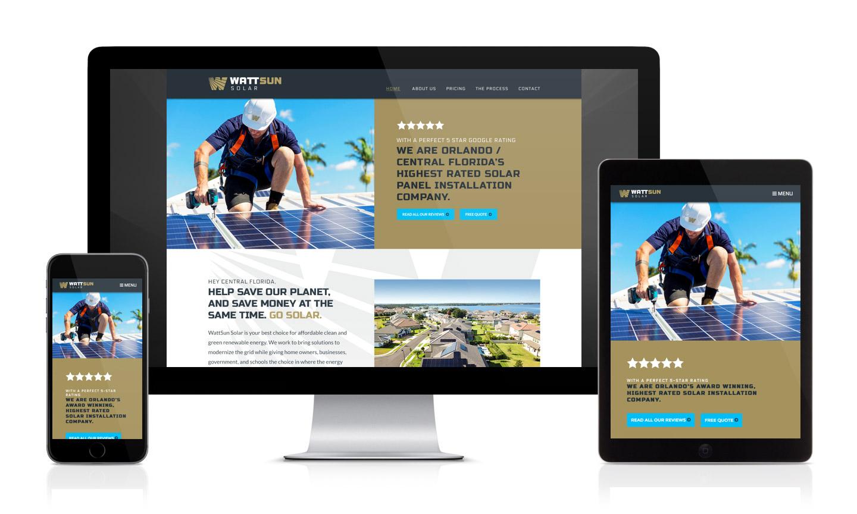 WattSun Solar Website